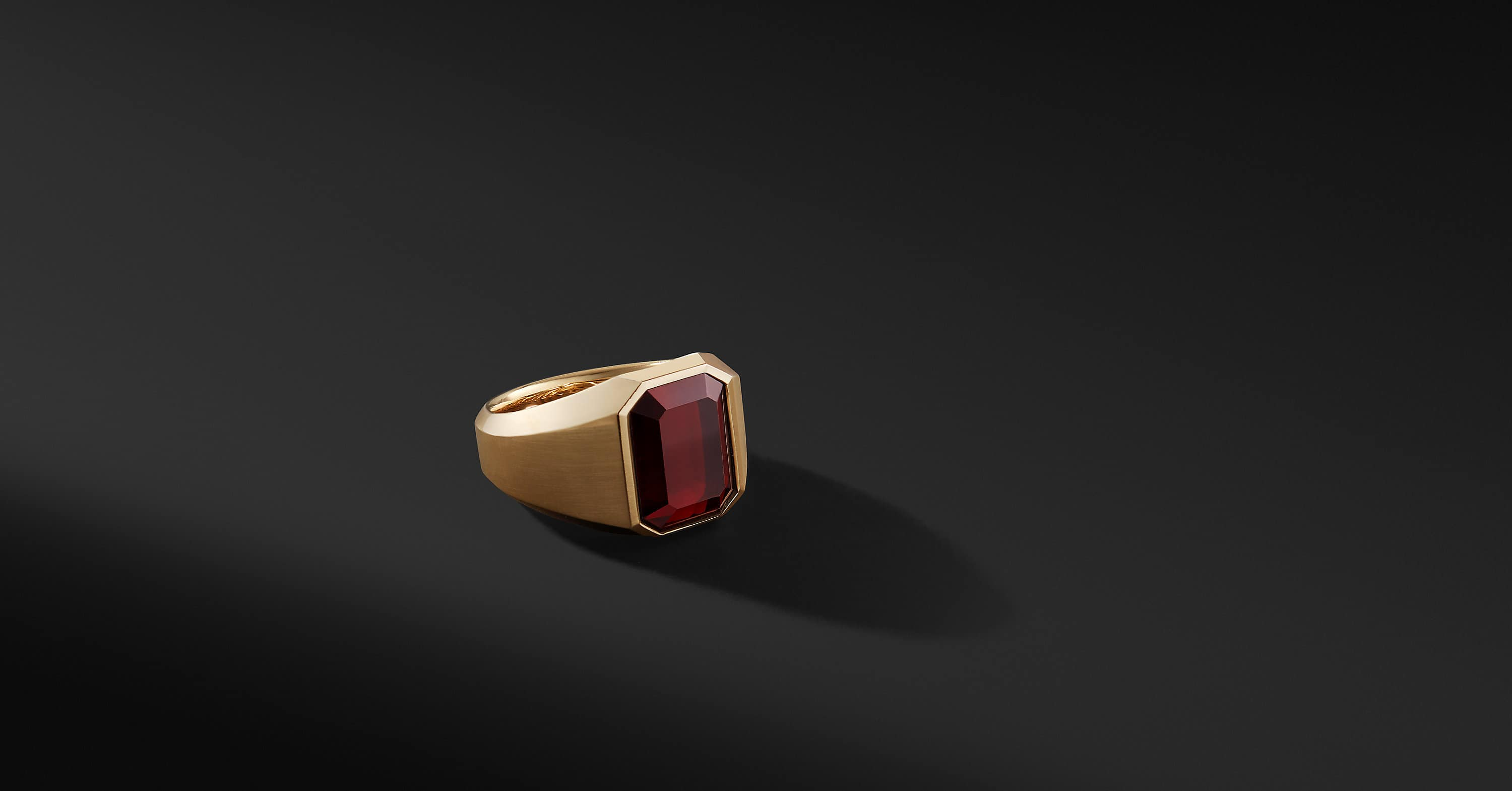 Streamline Signet Ring in 18K Gold