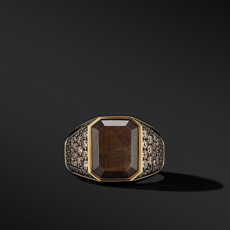 Heirloom Signet Ring in 18K Yellow Gold with