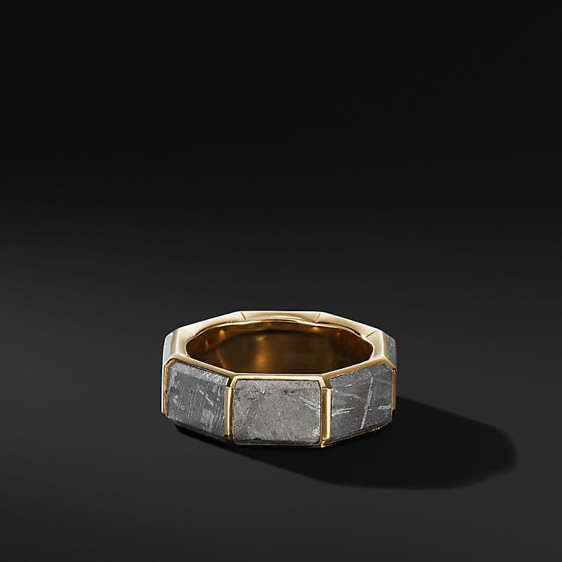 Faceted Band Ring in 18K Yellow Gold with