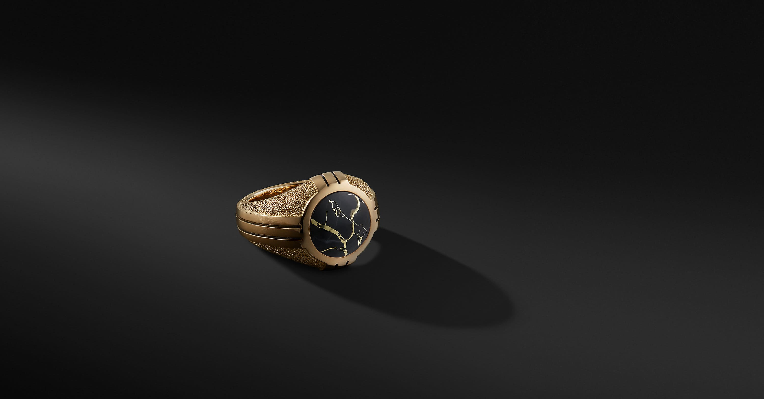 Southwest Signet Ring in 18K Gold