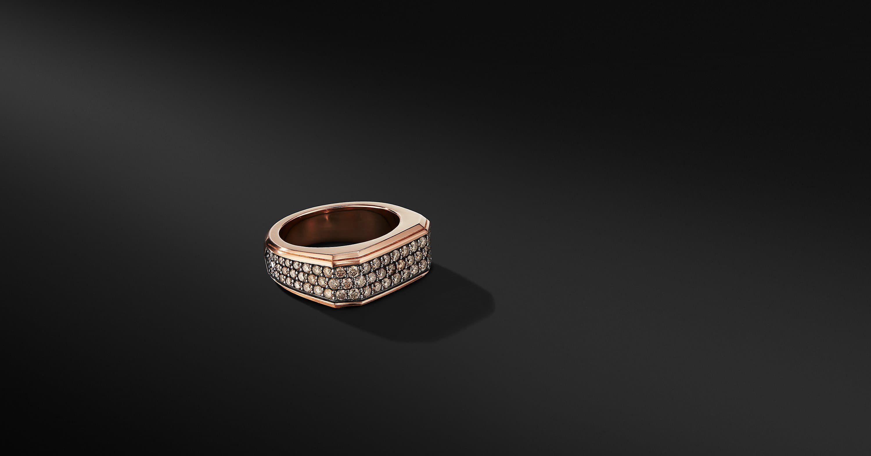 Roman Signet Ring in 18K Rose Gold