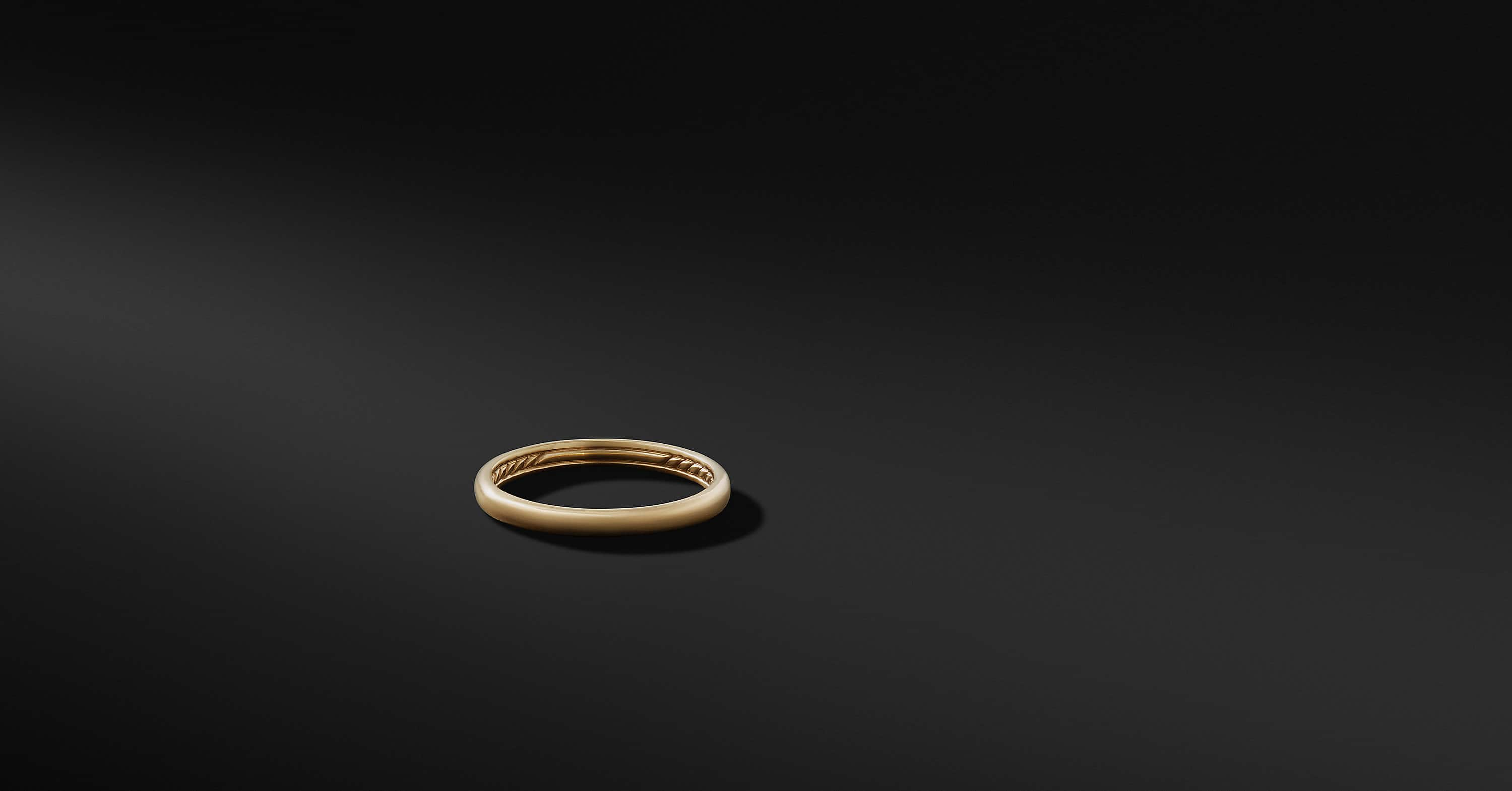 DY Classic Band in 18K Gold, 3mm