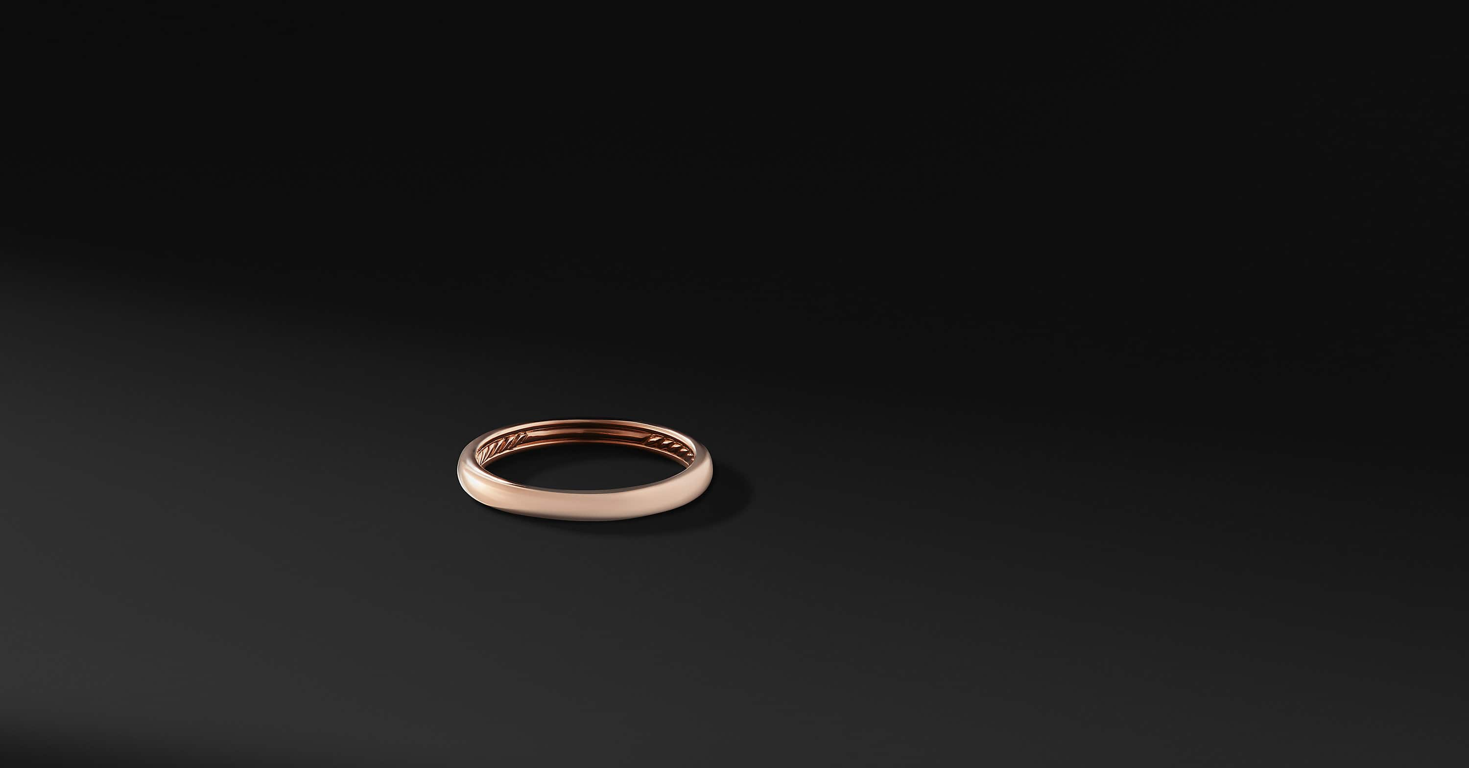 DY Classic Band in 18K Rose Gold, 3mm