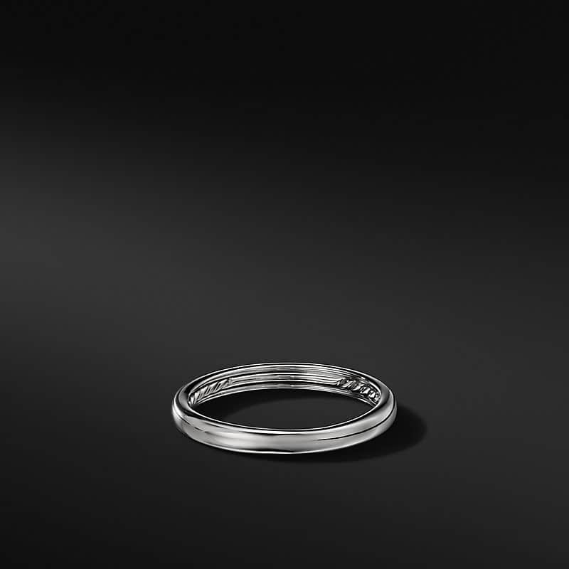 DY Classic Band in 18K White Gold, 3mm