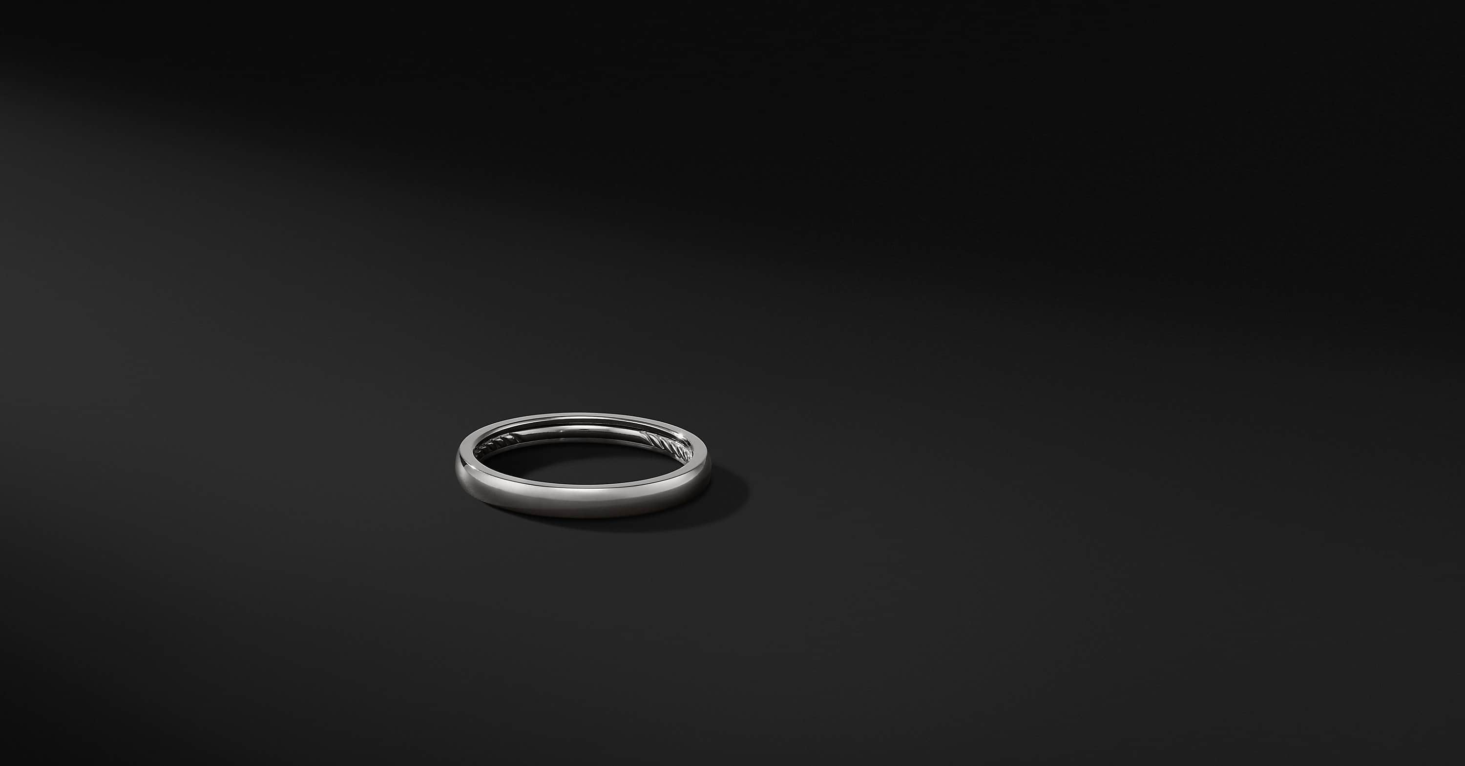 DY Classic Band Ring in Grey Titanium, 3mm