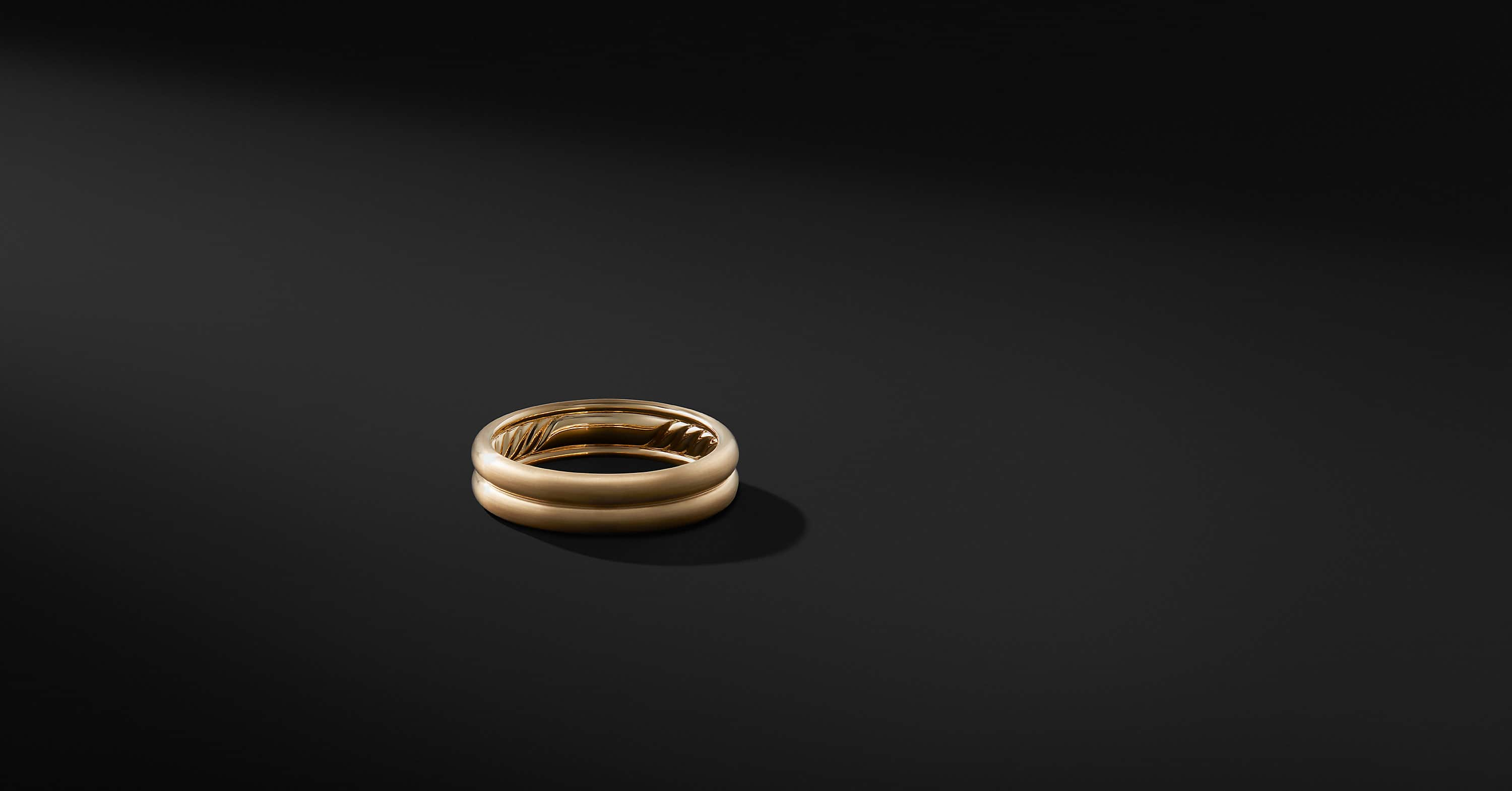 DY Classic Double Band in 18K Gold, 6mm