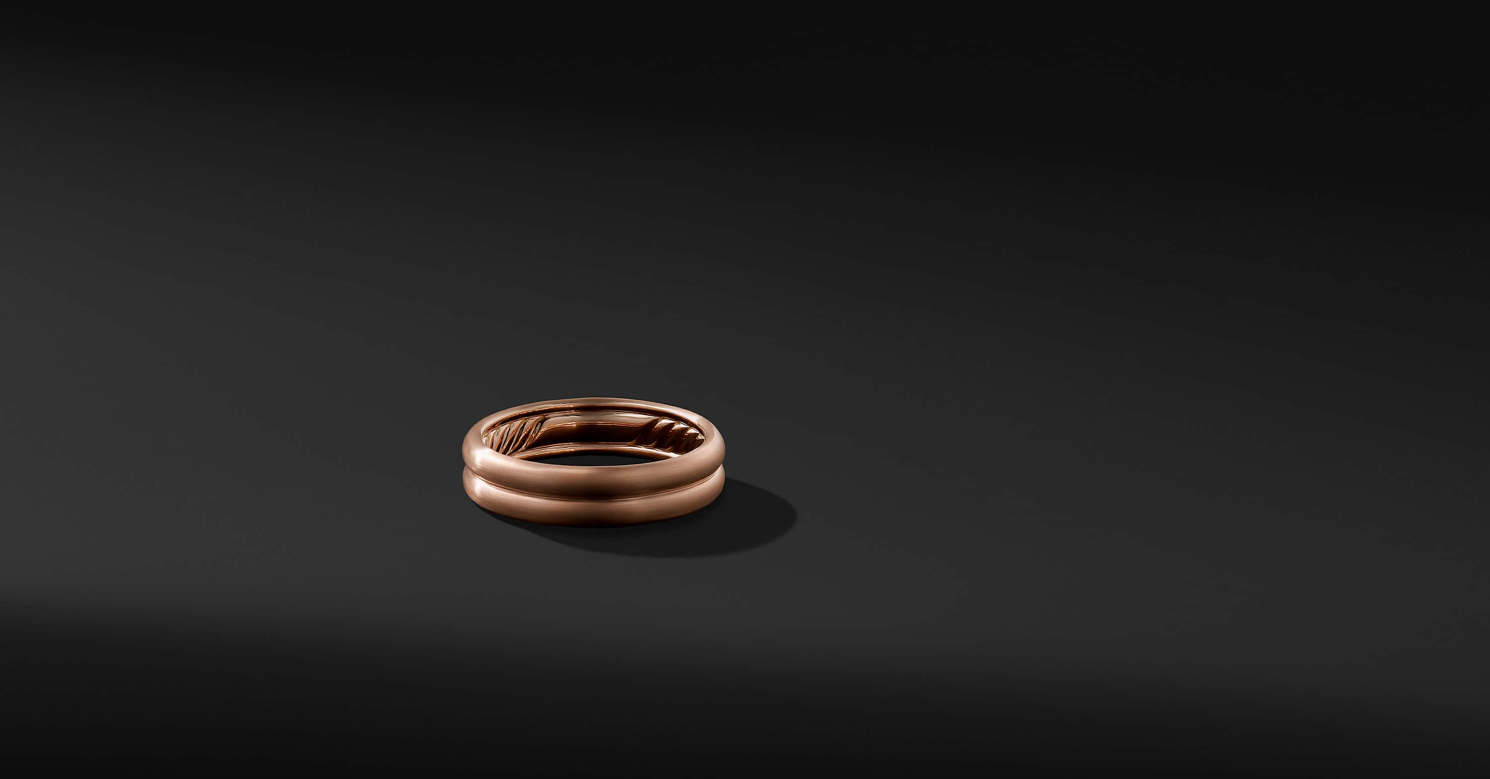 DY Classic Double Band in 18K Rose Gold, 6mm