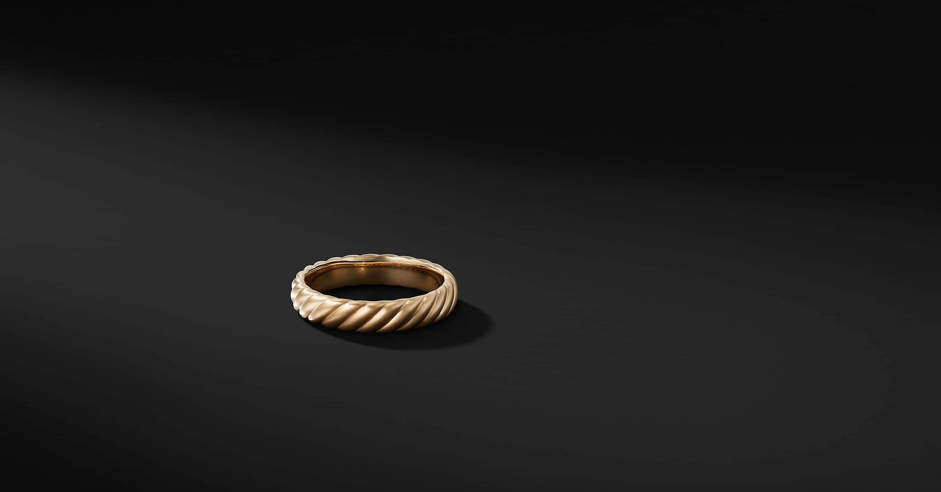 Cable Band in 18K Gold, 5mm