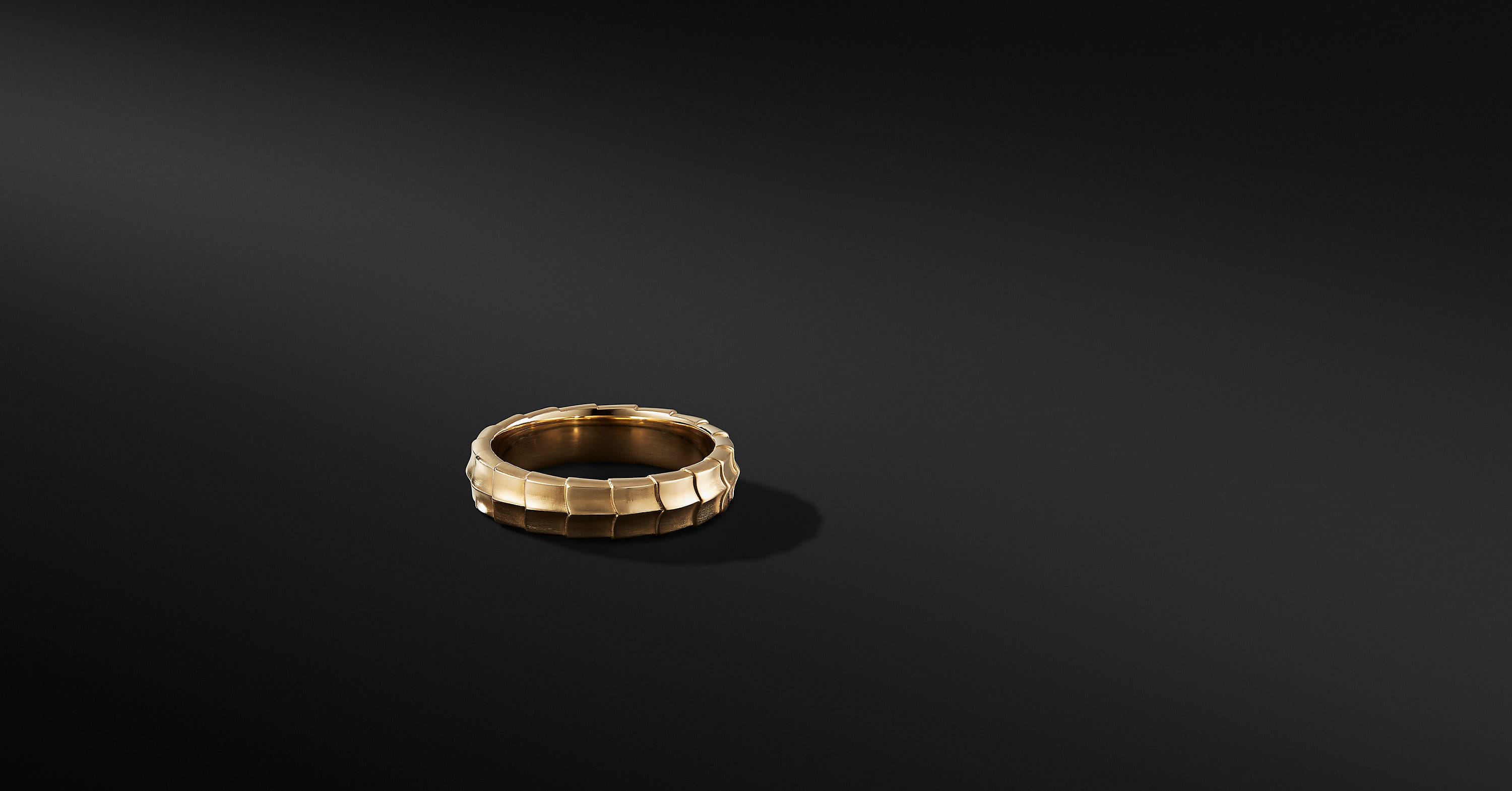 Armory Band Ring in 18K Yellow Gold, 6mm