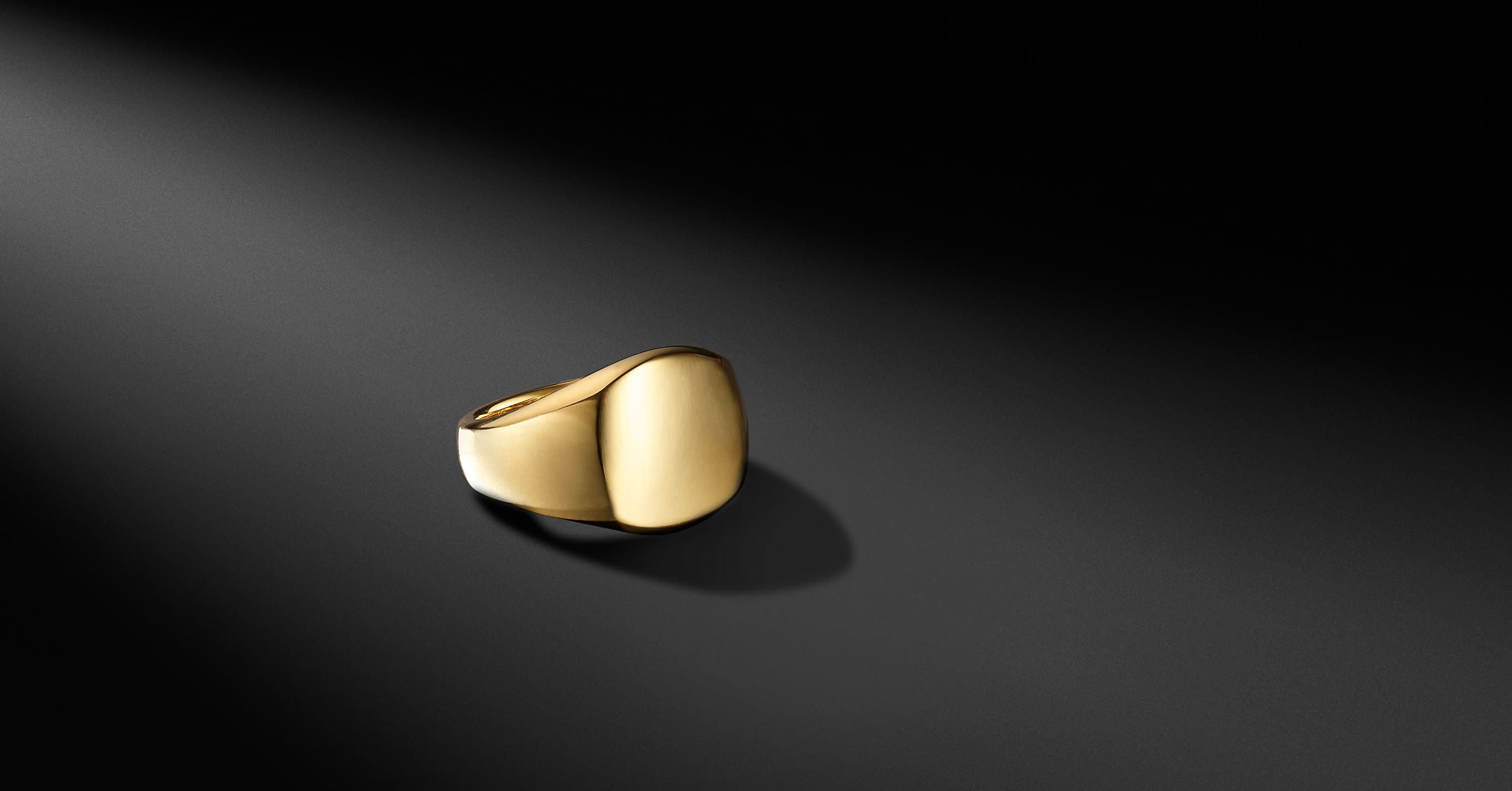 Streamline® Engravable Pinky Ring in 18K Yellow Gold