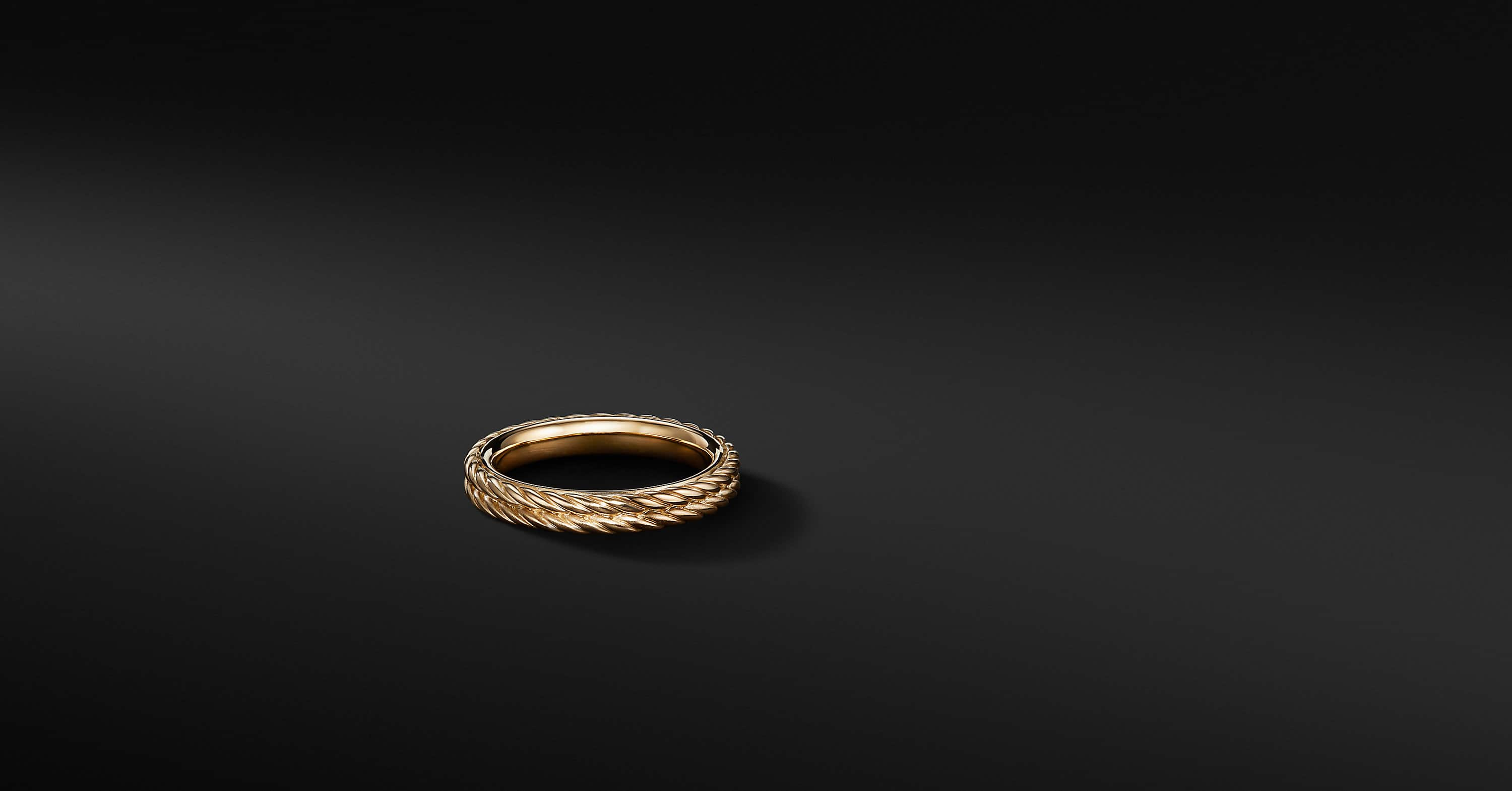 Maritime Two-Row Rope Band Ring in 18K Yellow Gold