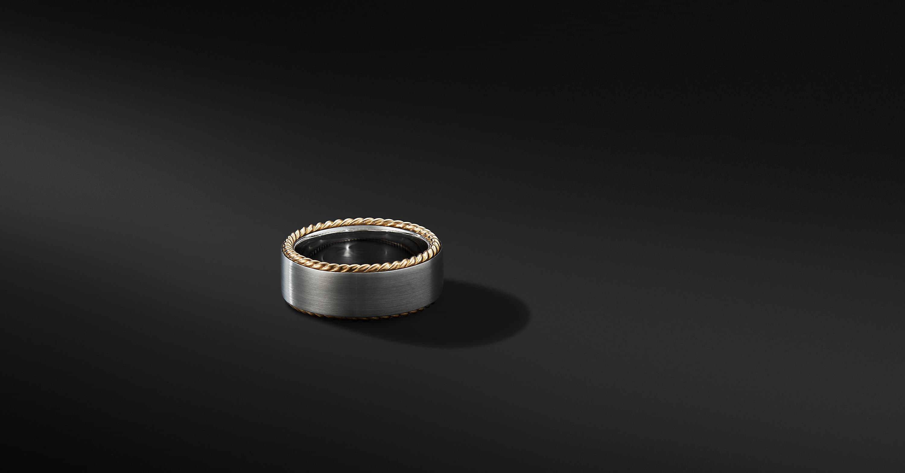 Streamline Cable Band Ring with 18K Yellow Gold, 9mm