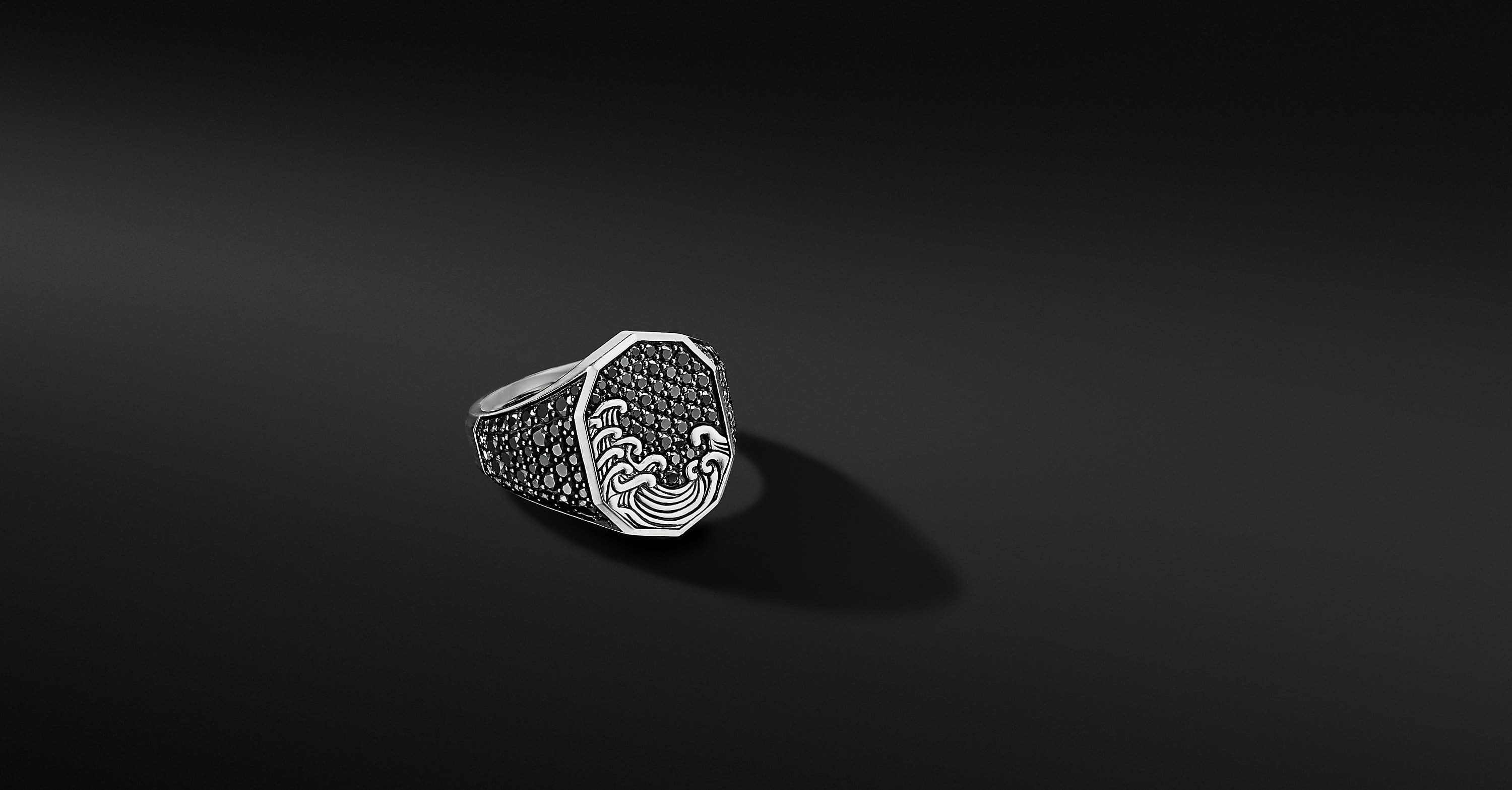 Waves Signet Ring