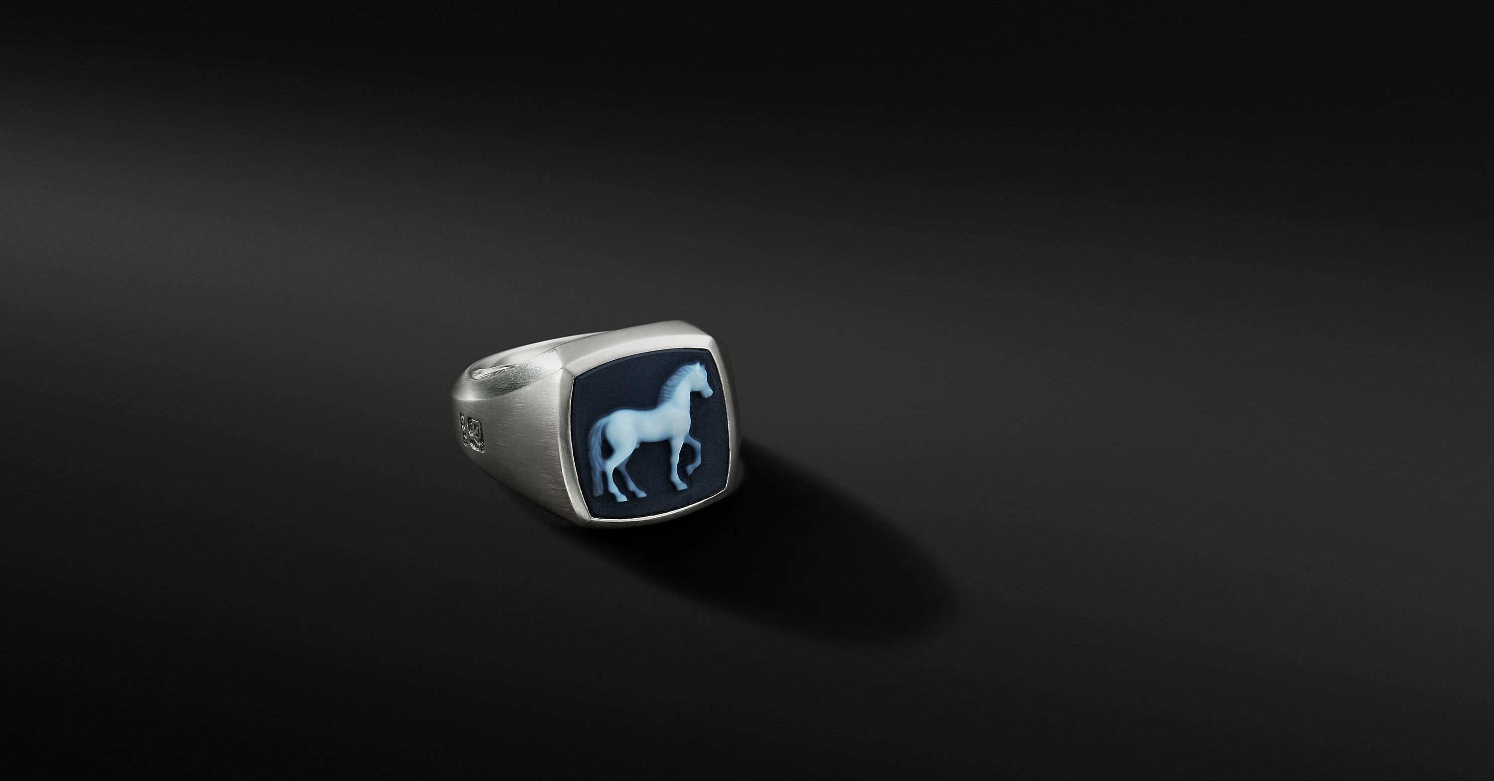Petrvs Horse Signet Ring
