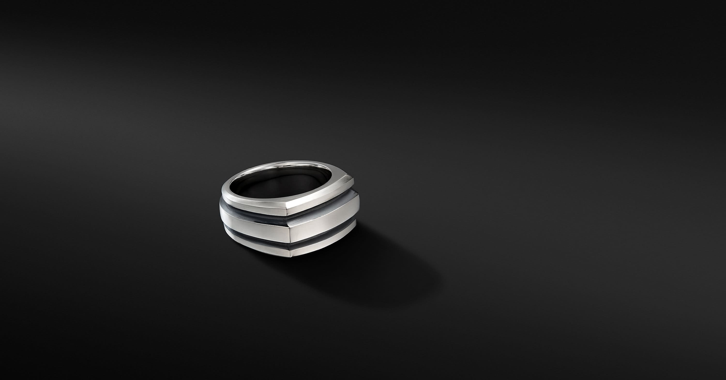 Deco Cigar Band Ring, 13mm