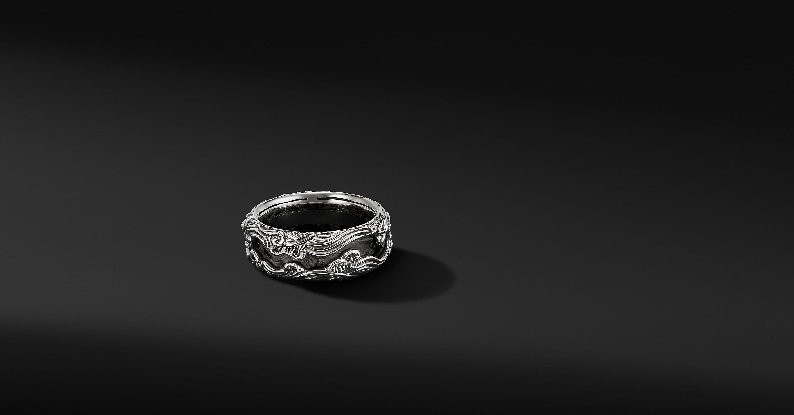 Waves Band Ring, 10mm