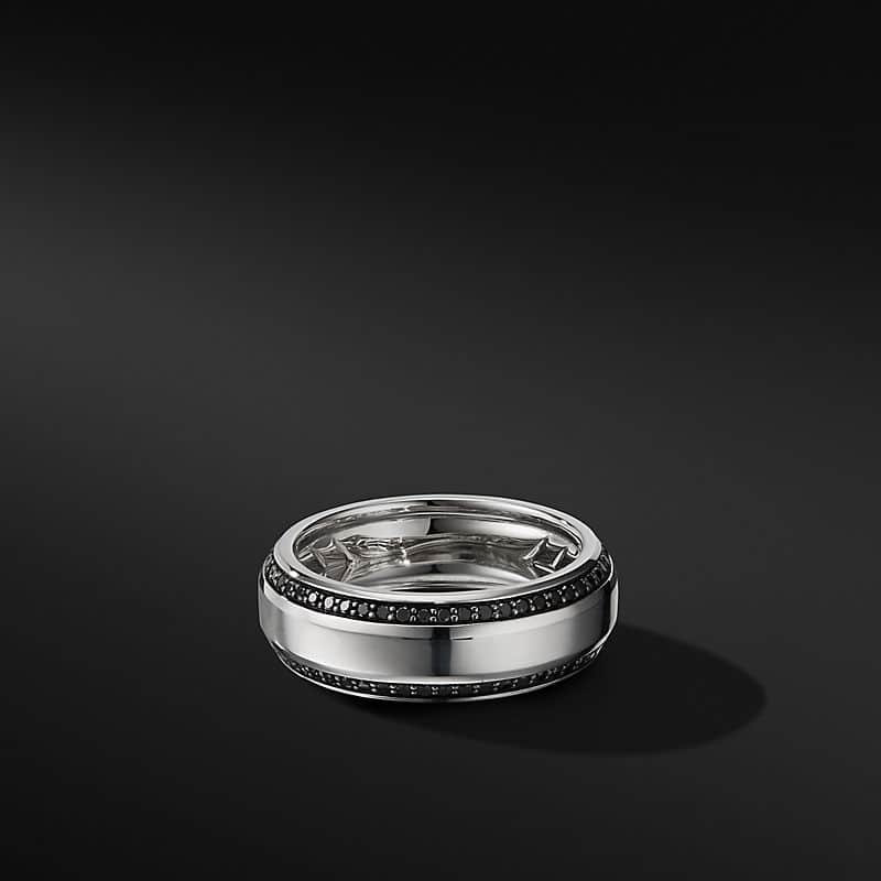 Beveled Band Ring in 18K White Gold with