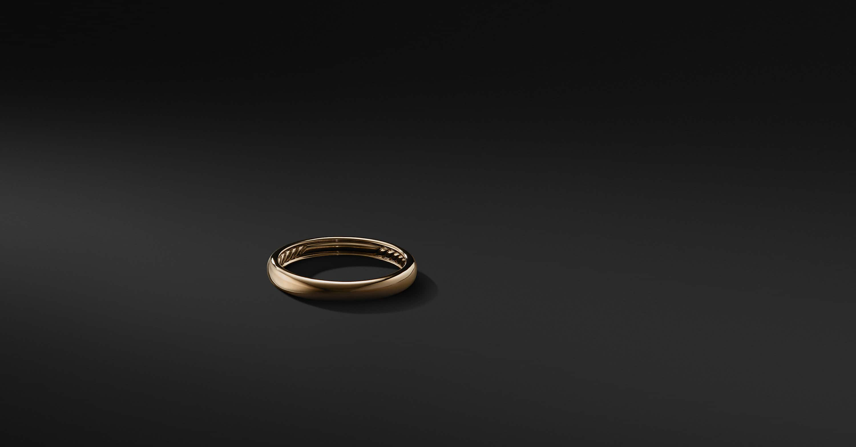 DY Classic Band in 18K Gold, 3.5mm