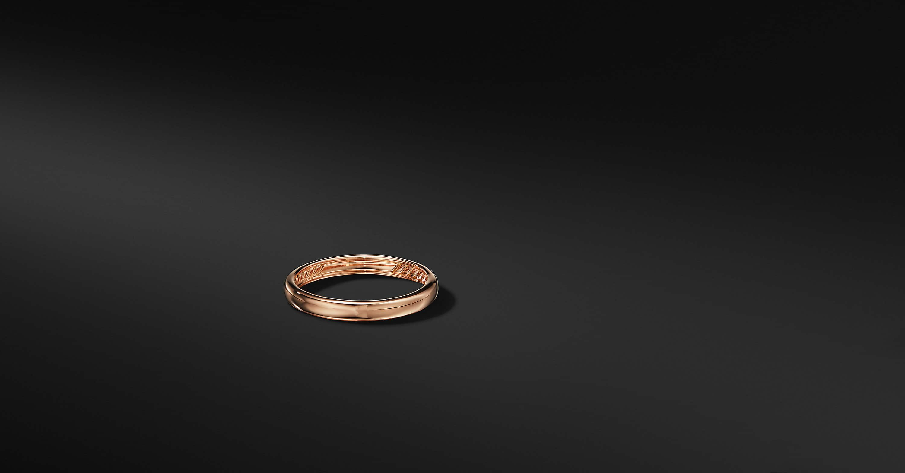 DY Classic Band in 18K Rose Gold, 3.5mm
