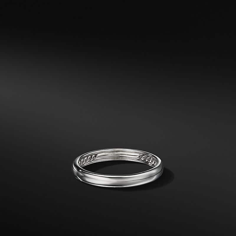 DY Classic Band in 18K White Gold, 3.5mm