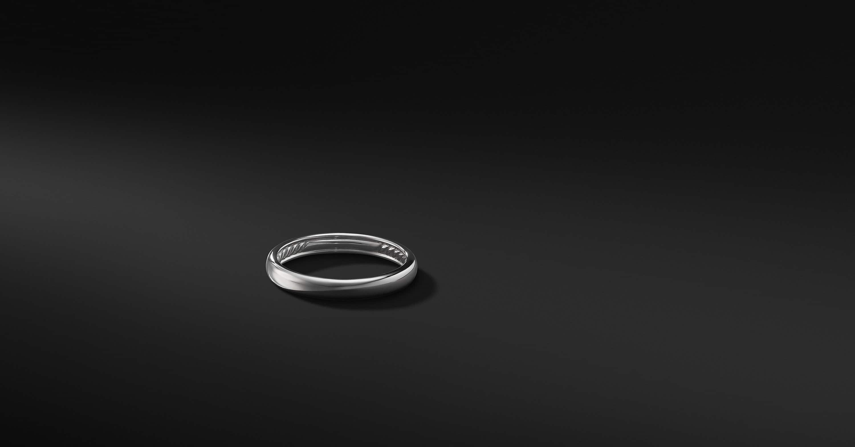 DY Classic Band Ring in Platinum, 3.5mm