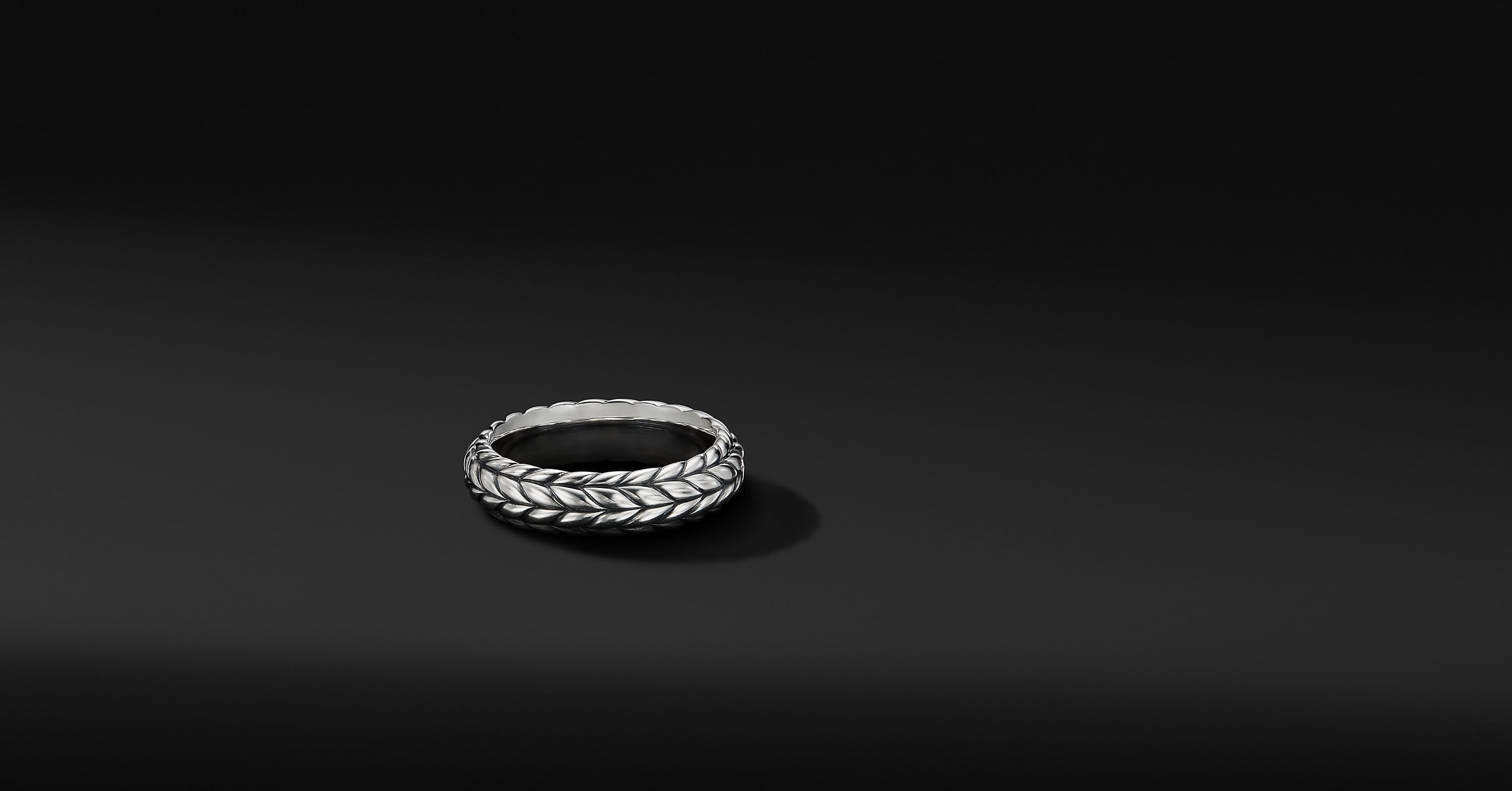 Chevron Band Ring, 6mm