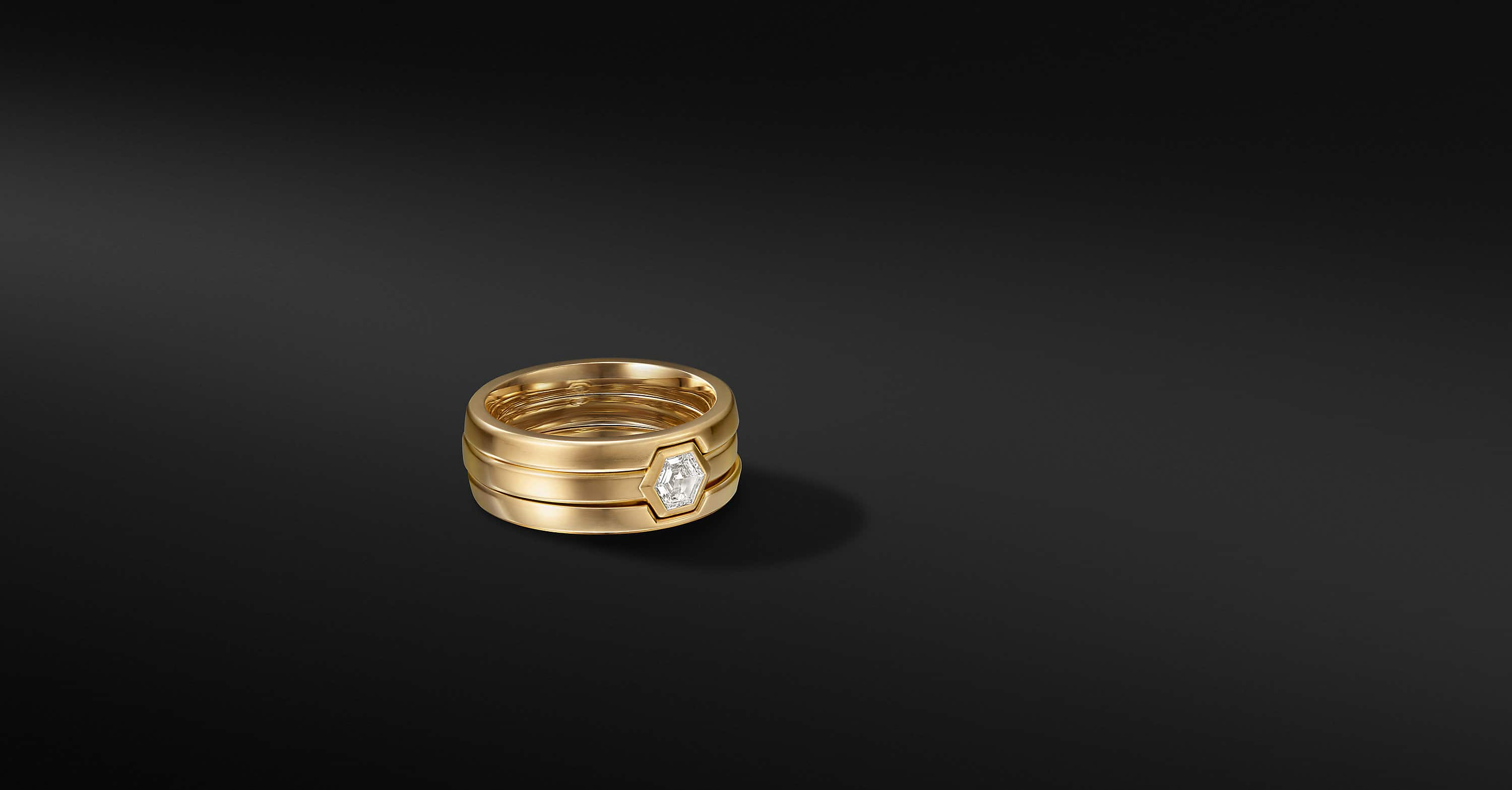 Nesting Band Ring in 18K Yellow Gold, 10mm