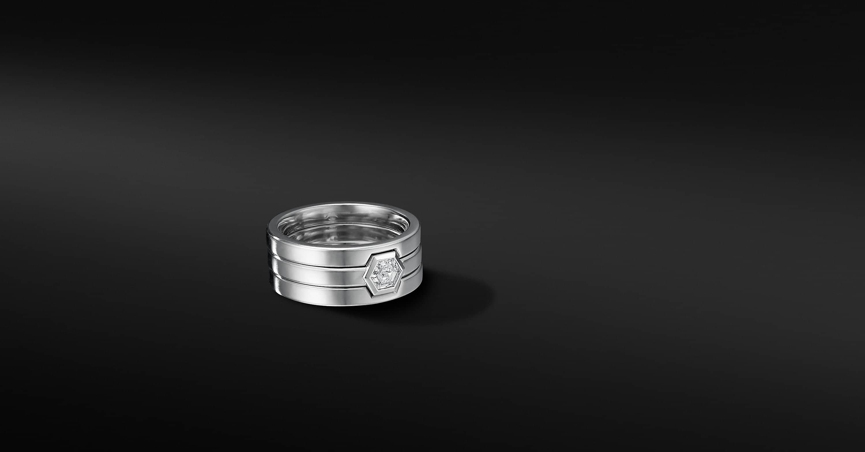 Nesting Band Ring in Platinum, 10mm