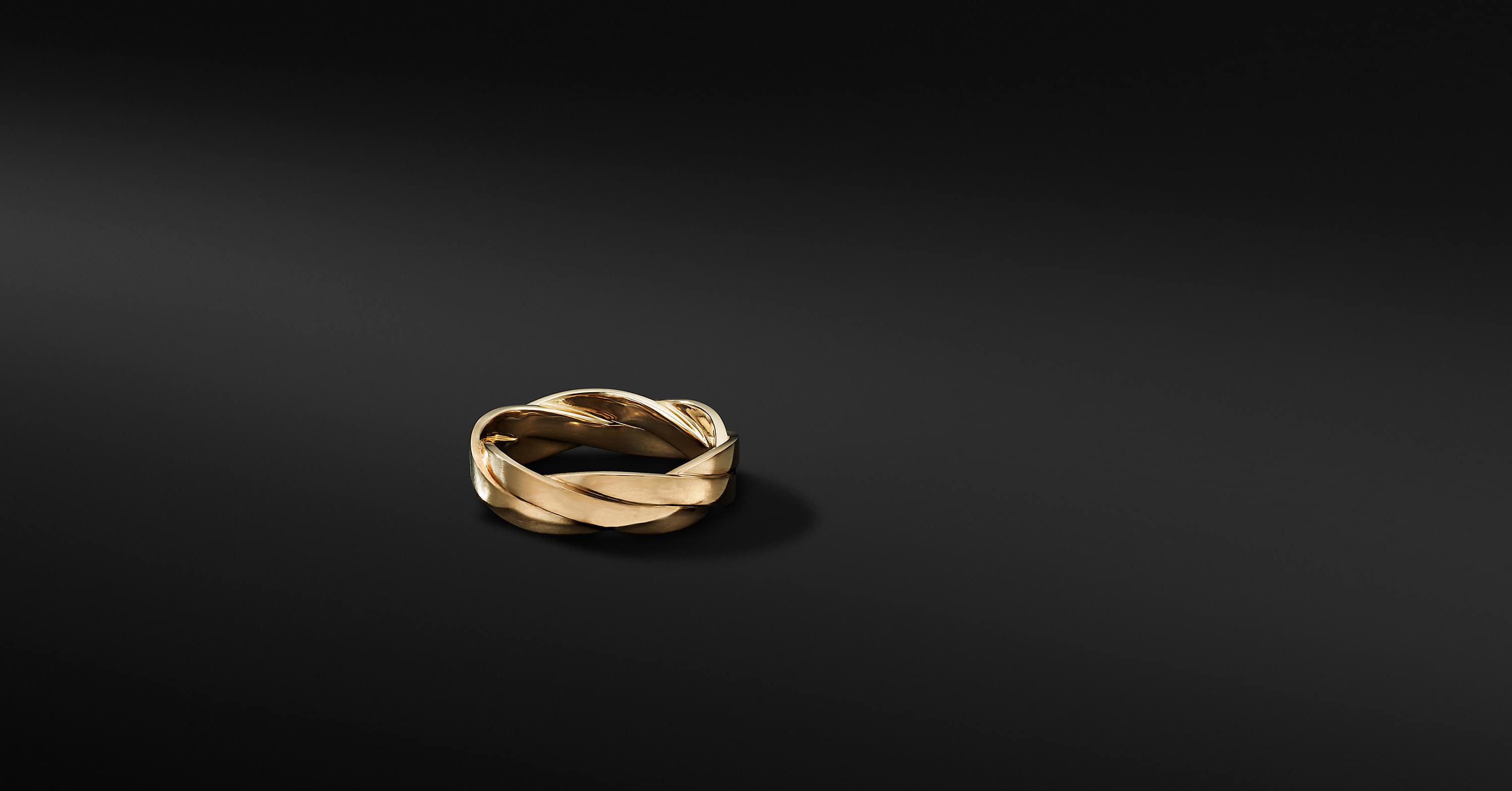 Twisted Cable Band Ring in 18K Yellow Gold, 6mm