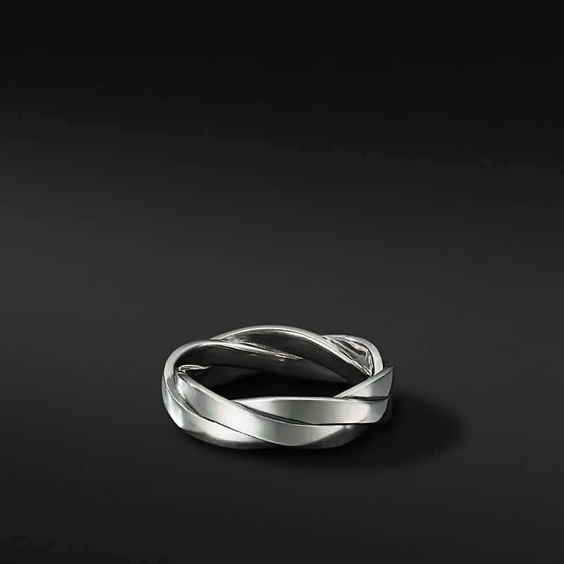 Twisted Cable Band Ring, 6mm