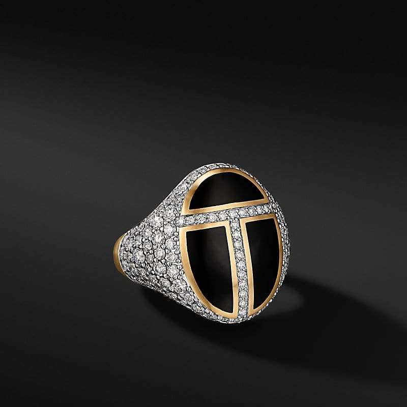 Cairo Signet Ring in 18K Yellow Gold, 23.6mm