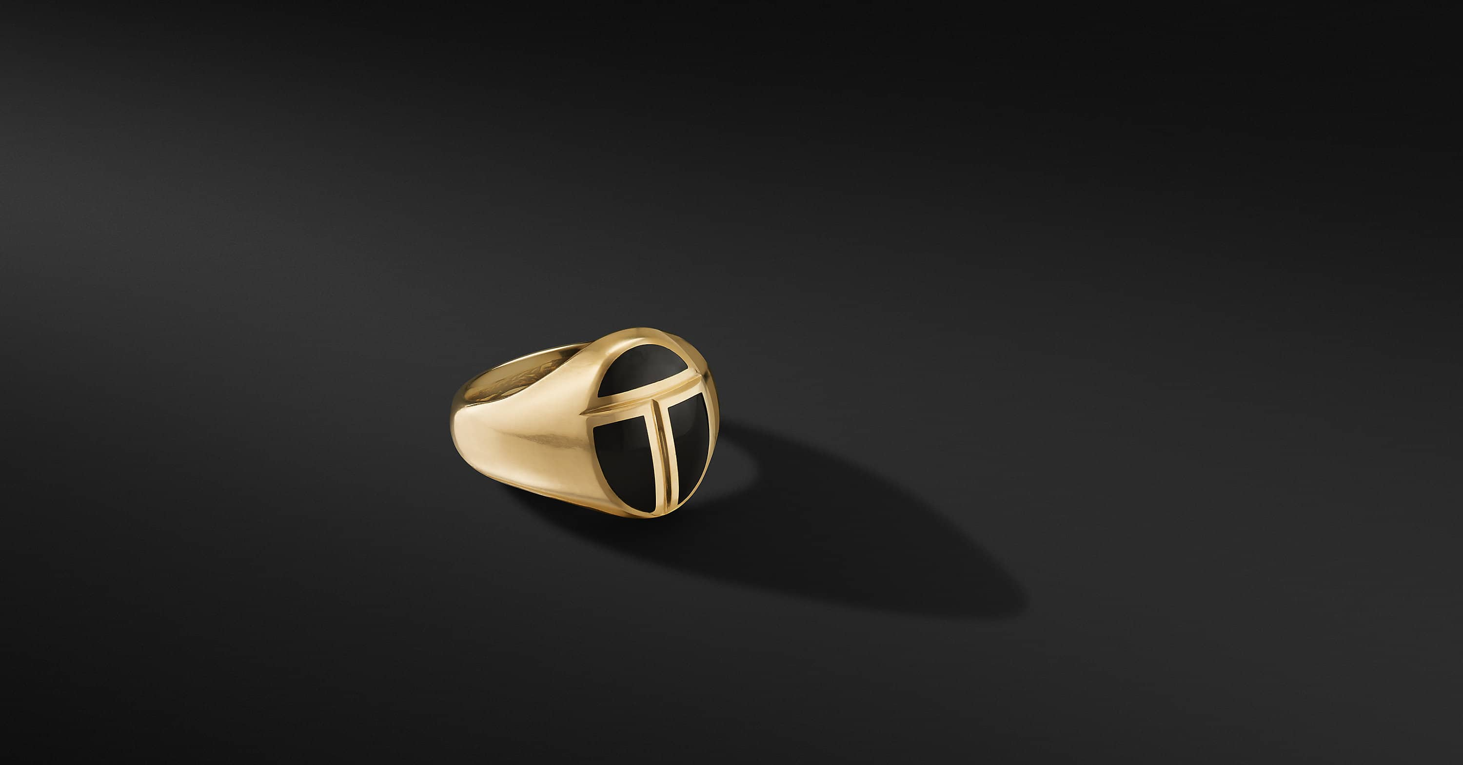 Cairo Pinky Ring in 18K Yellow Gold, 15.5mm