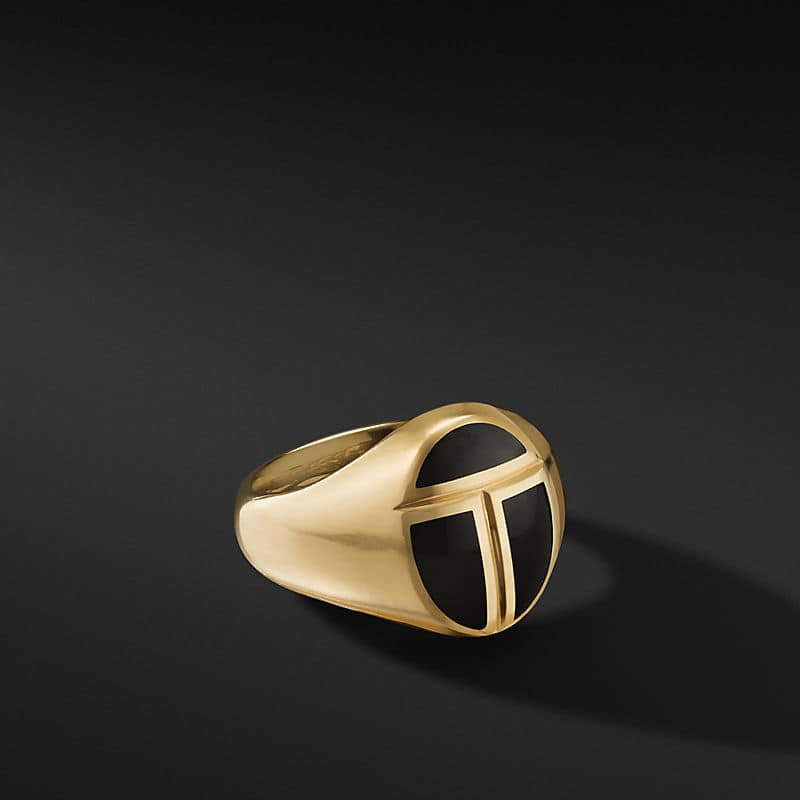 Cairo Pinky Ring in 18K Yellow Gold with