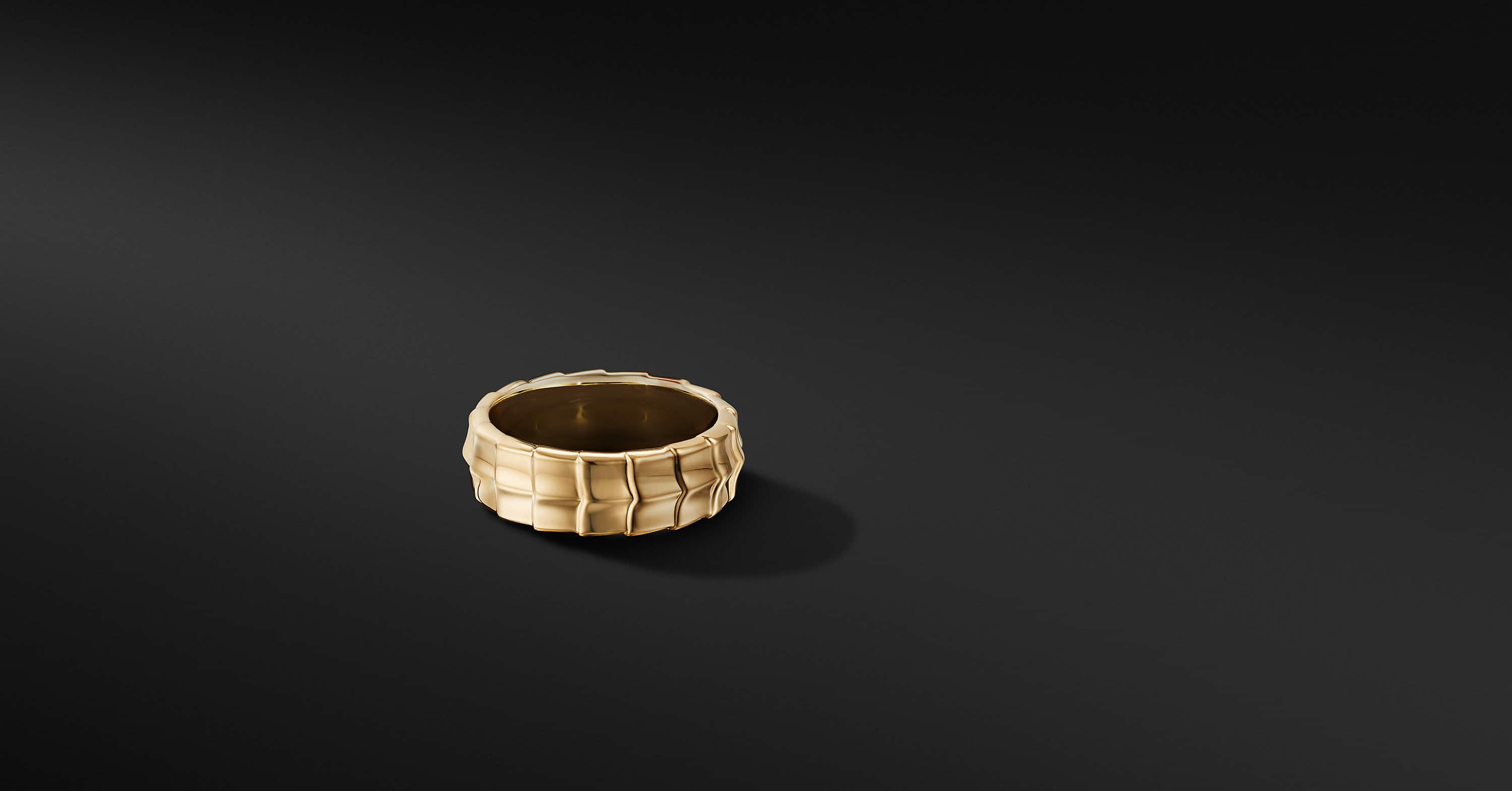 Armory Band Ring in 18K Yellow Gold, 8mm