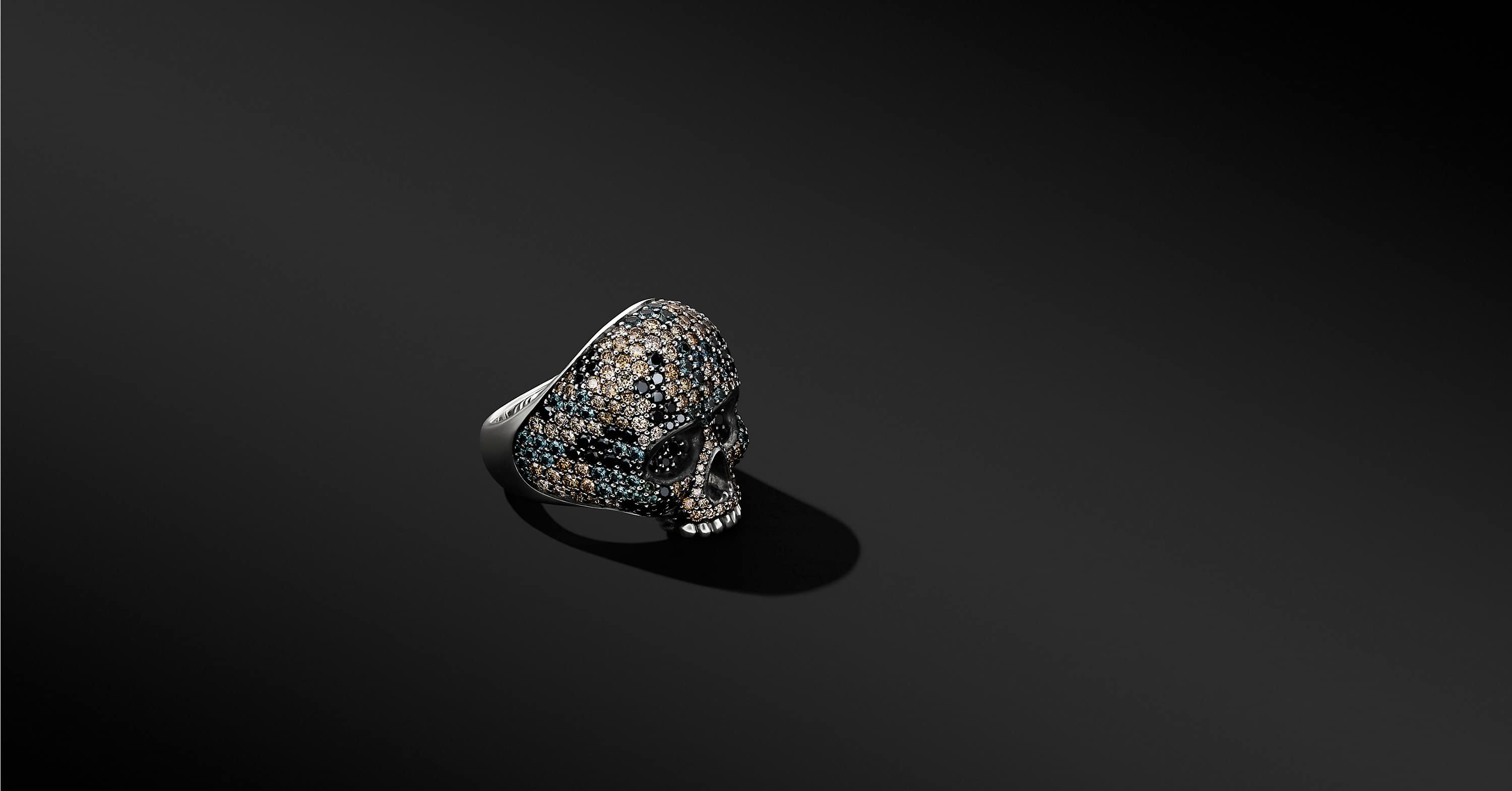 Skull Ring with Pavé, 26mm