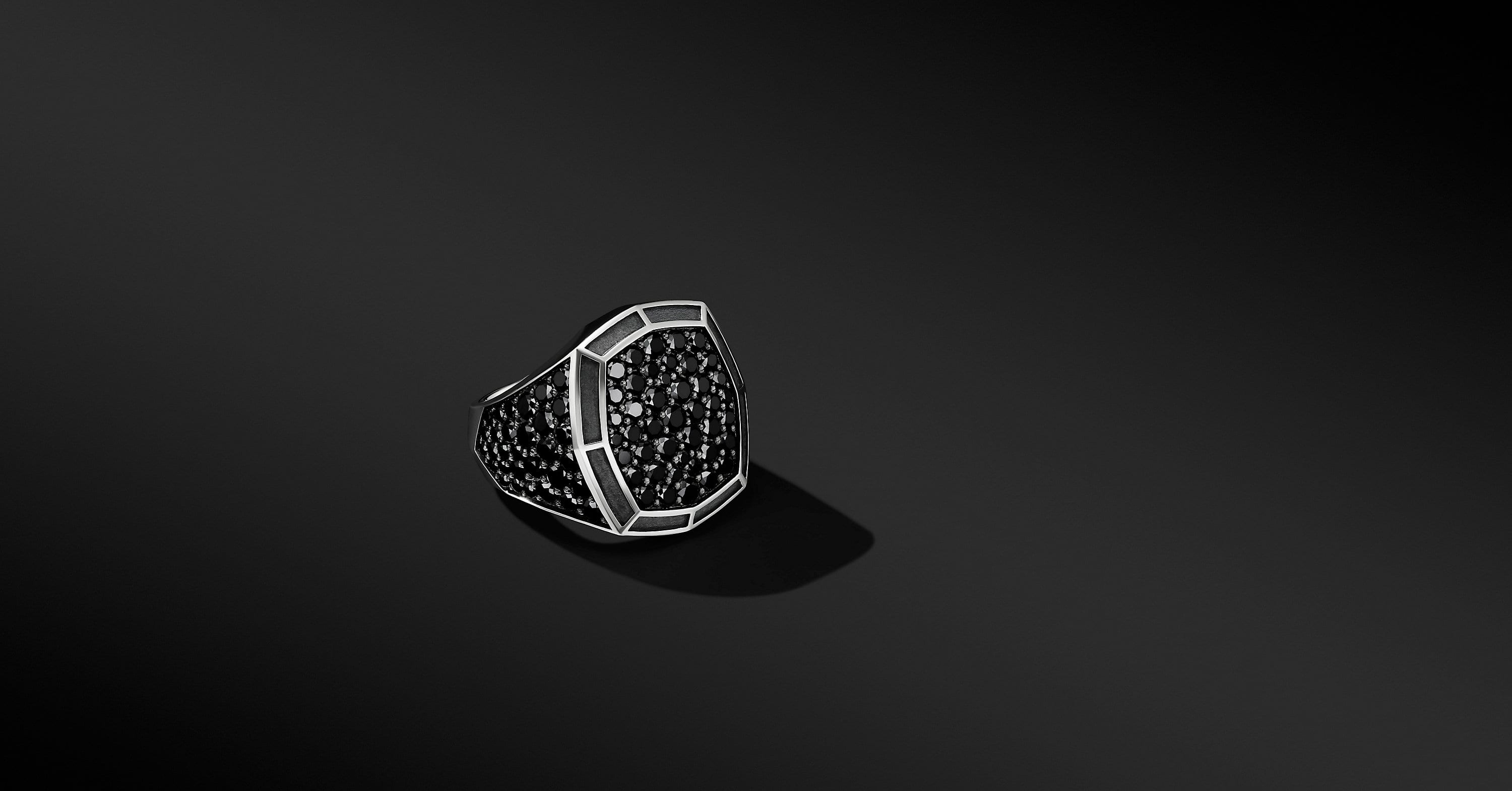 Signet Ring with Pavé, 23mm
