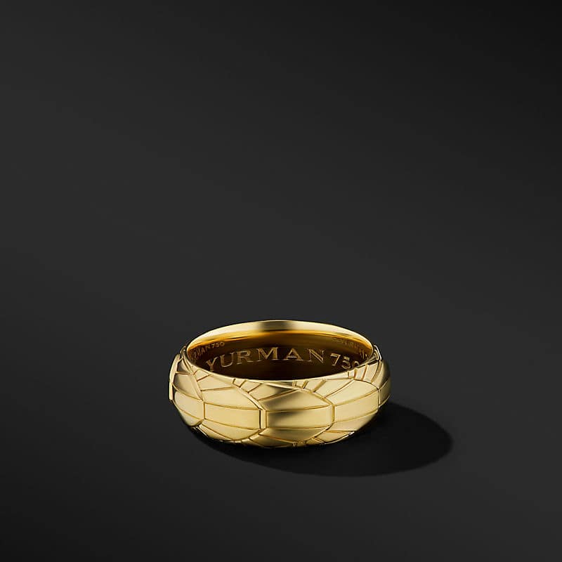 Empire Band Ring in 18K Yellow Gold, 8mm