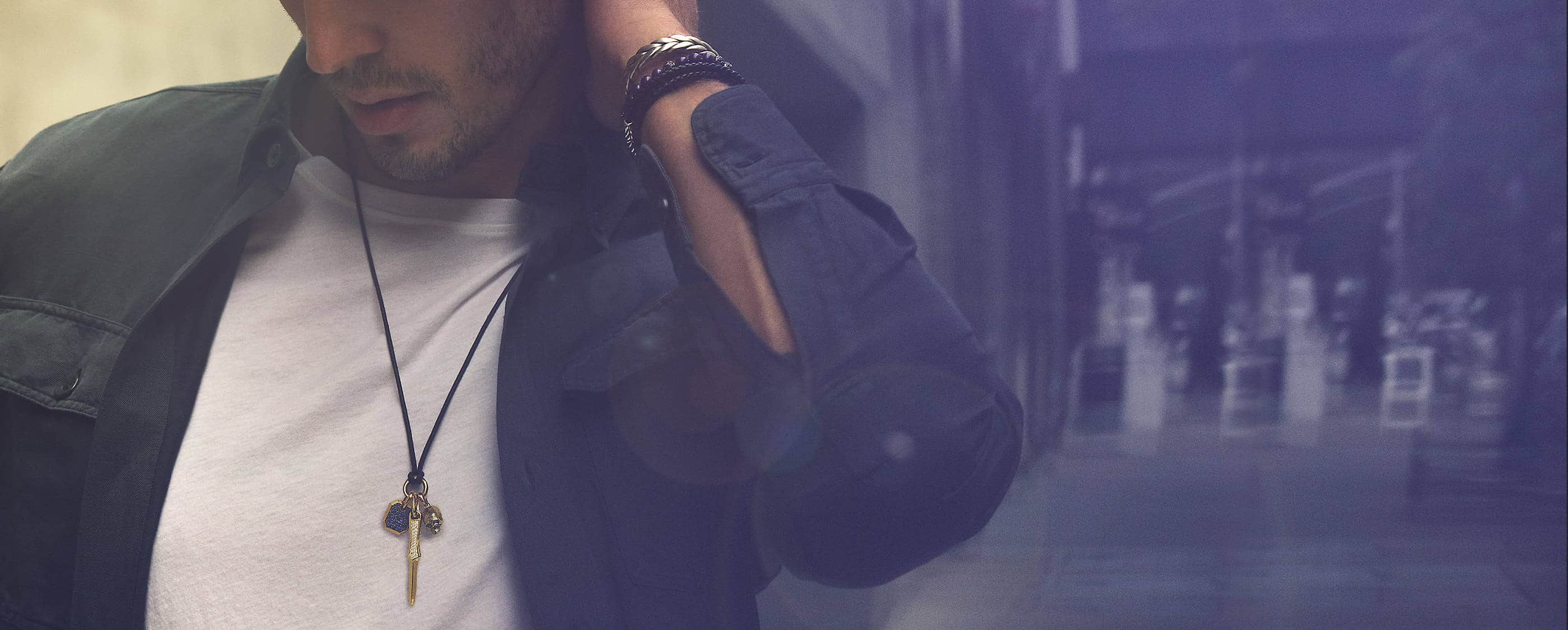 Shop blue jewelry for men