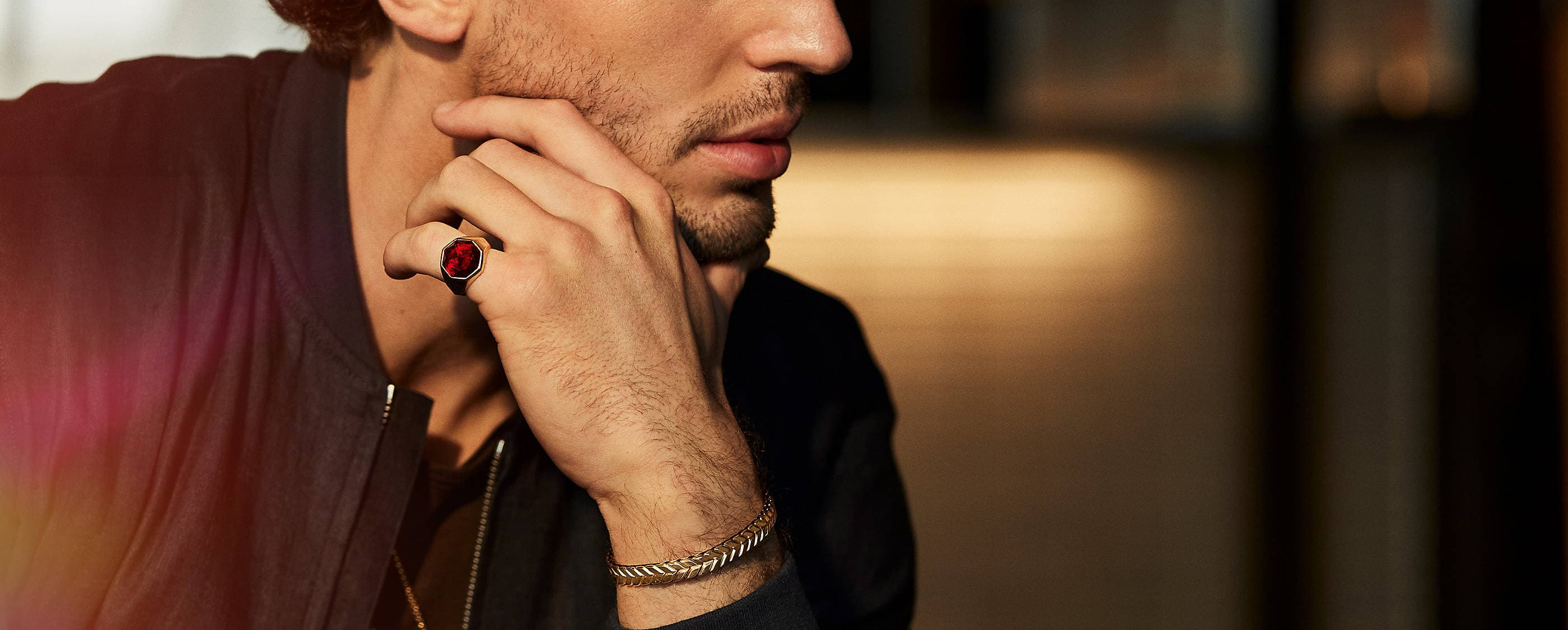 Shop red jewelry for men