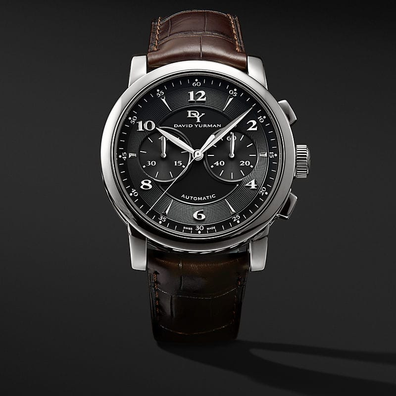 Classic 46mm Stainless Steel Chronograph Watch
