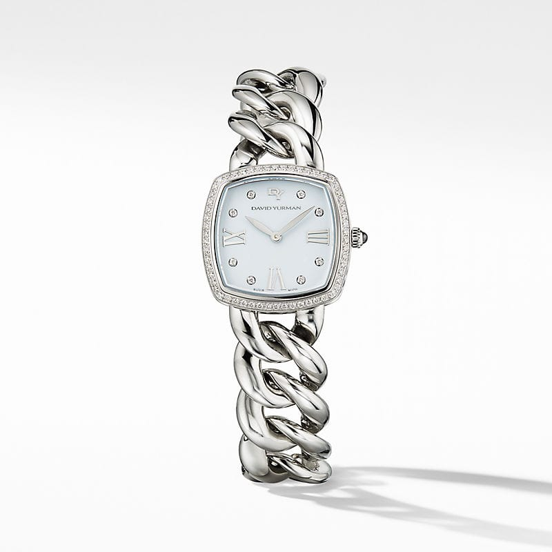 Albion 27mm Stainless Steel Quartz Watch with Pavé