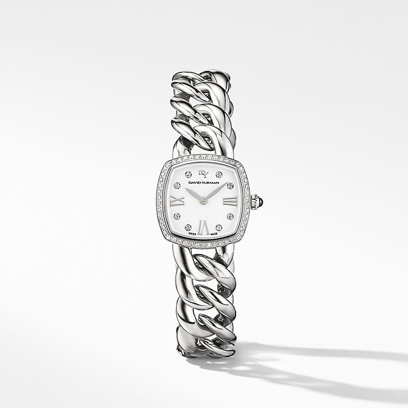 Albion 23mm Stainless Steel Quartz Watch with Diamonds