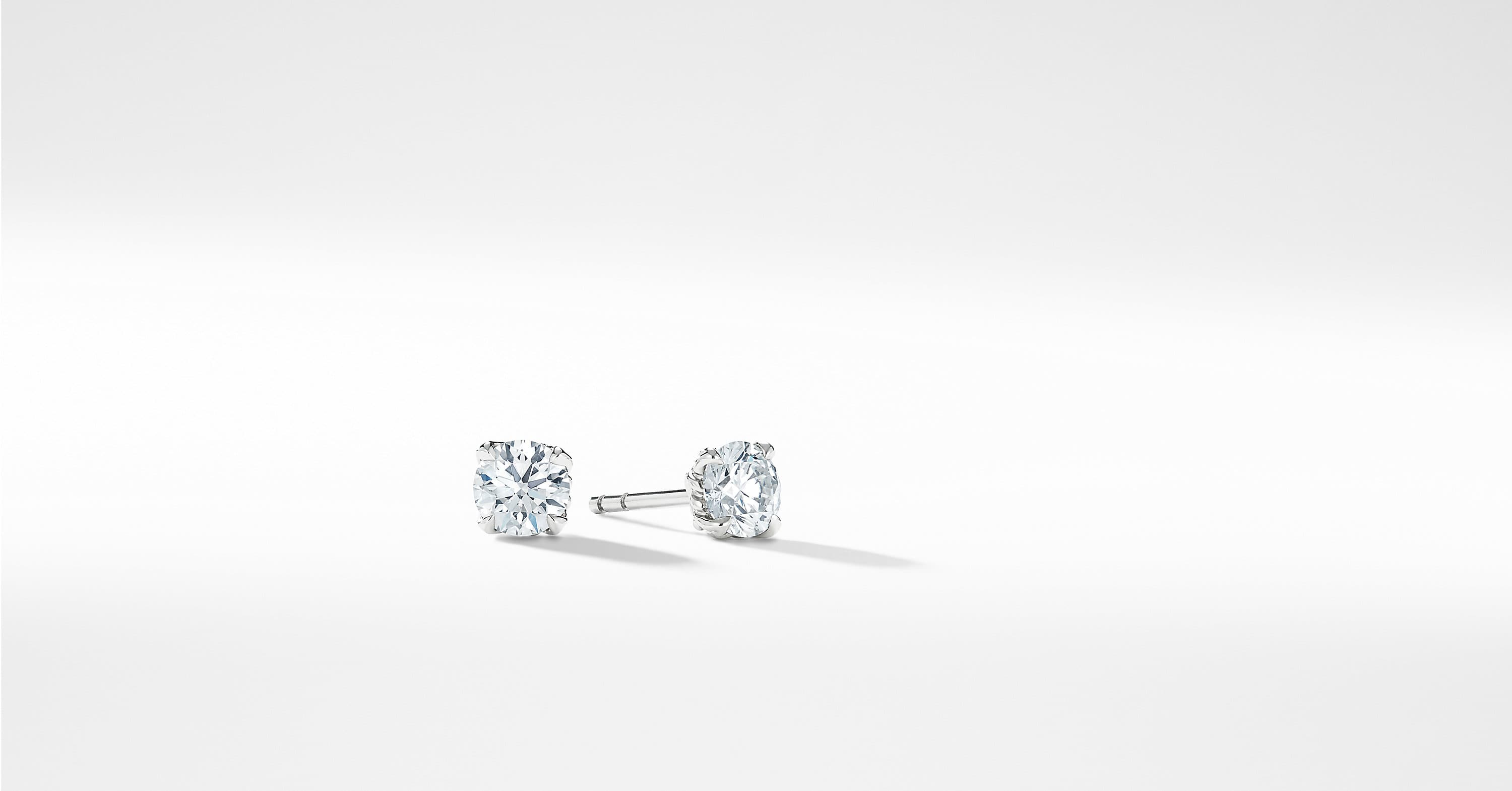 DY Diamond Stud Earrings in Platinum