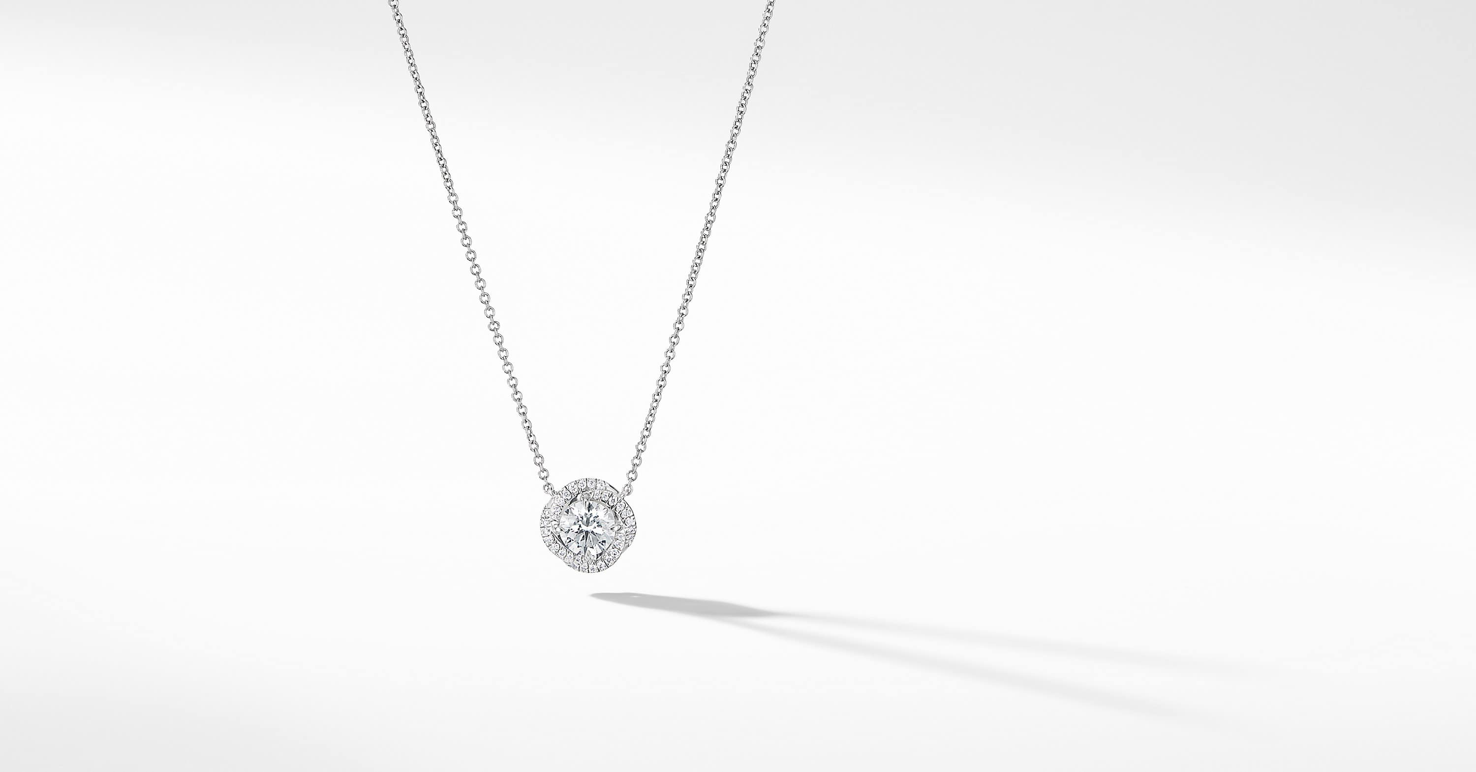 DY Lanai Pendant Necklace in 18K White Gold with Diamonds