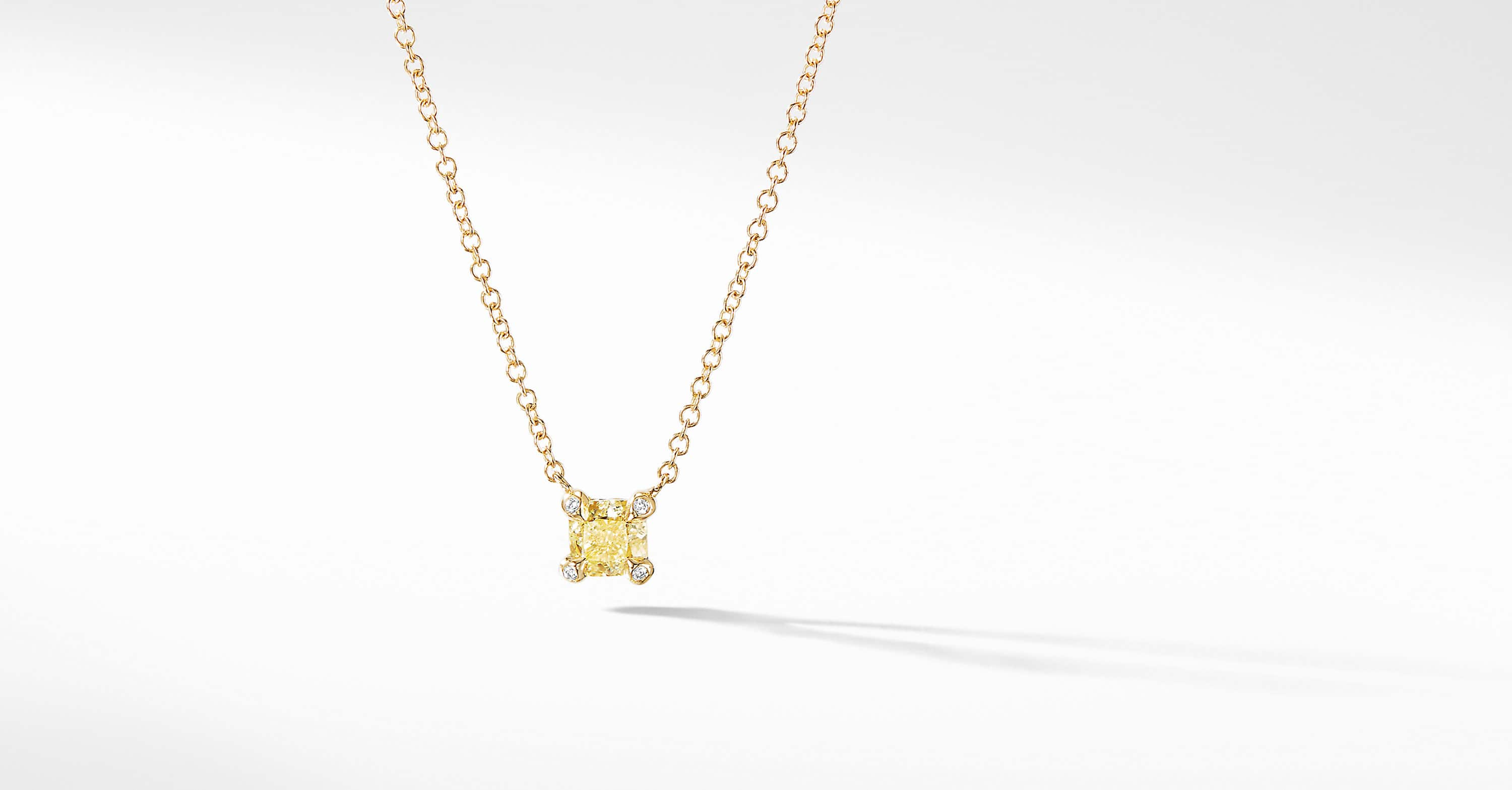 Precious Chatelaine Pendant Necklace with Yellow Diamonds in 18K Gold