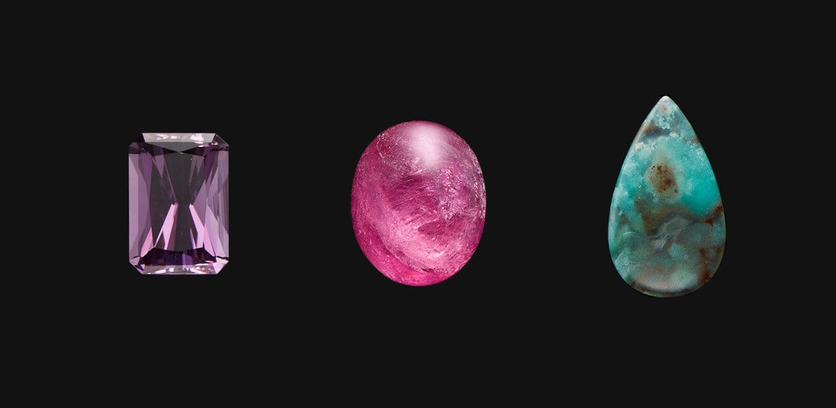 A slide show of different gemstones.