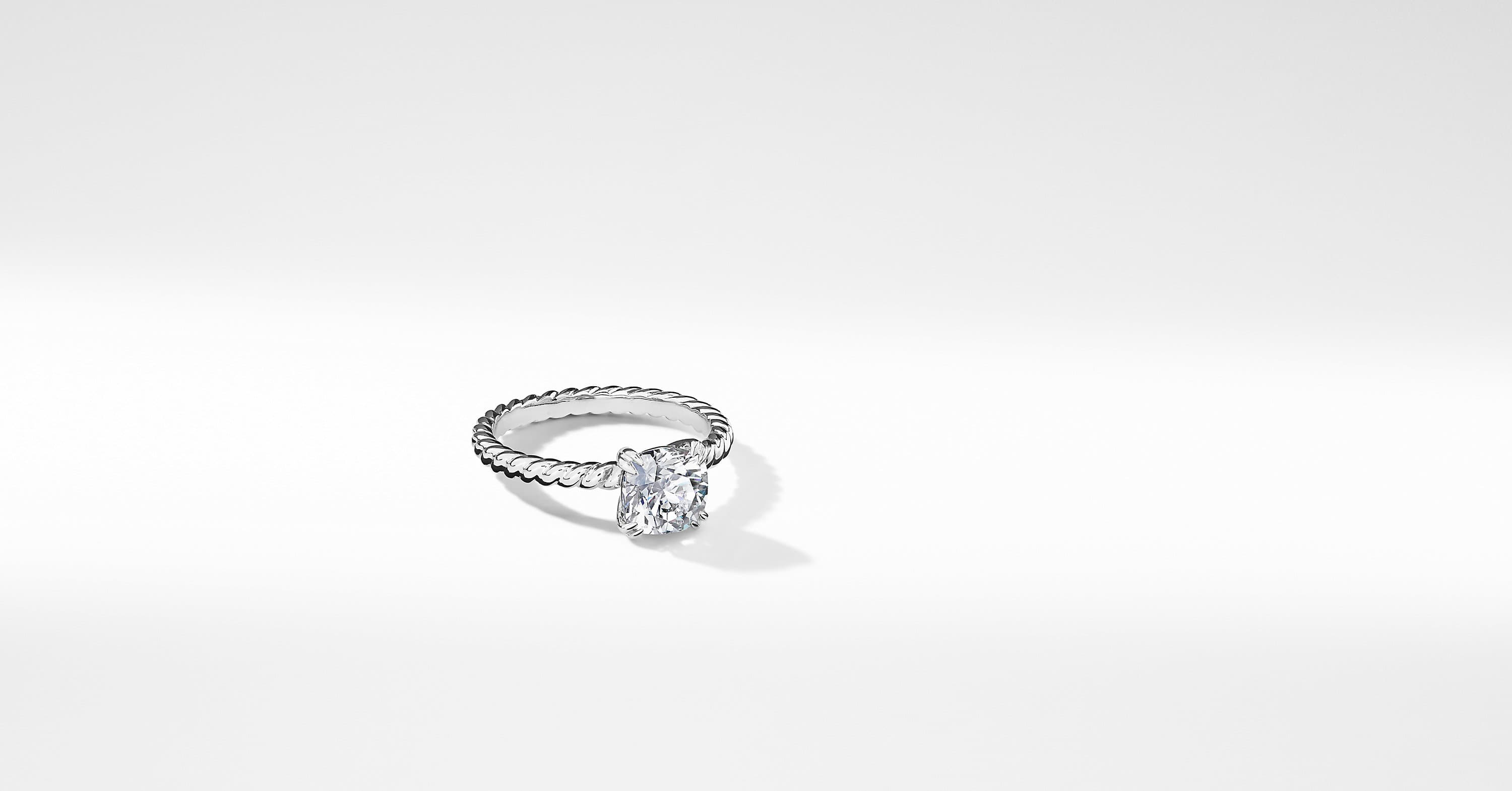 DY Unity Cable Engagement Ring in Platinum, DY Signature Cut