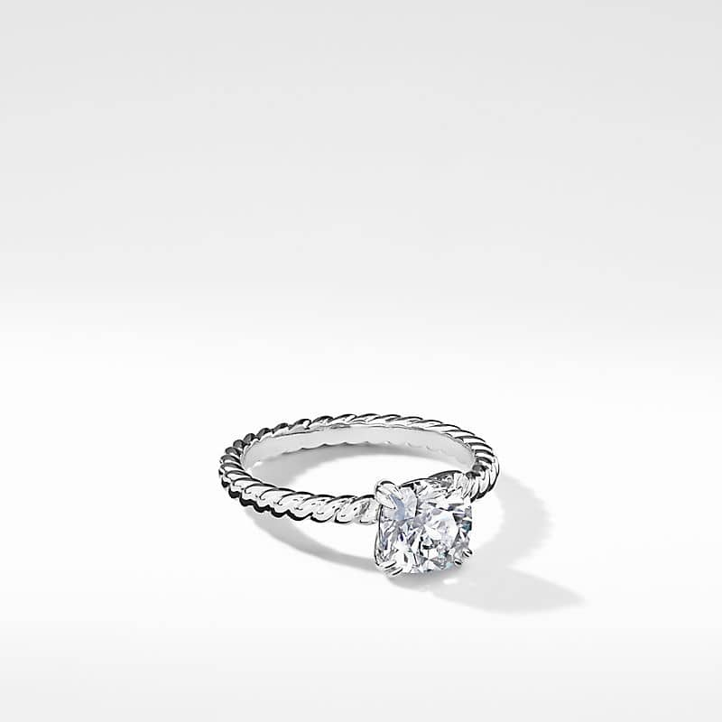 DY Unity Cable Engagement Ring in Platinum, DY