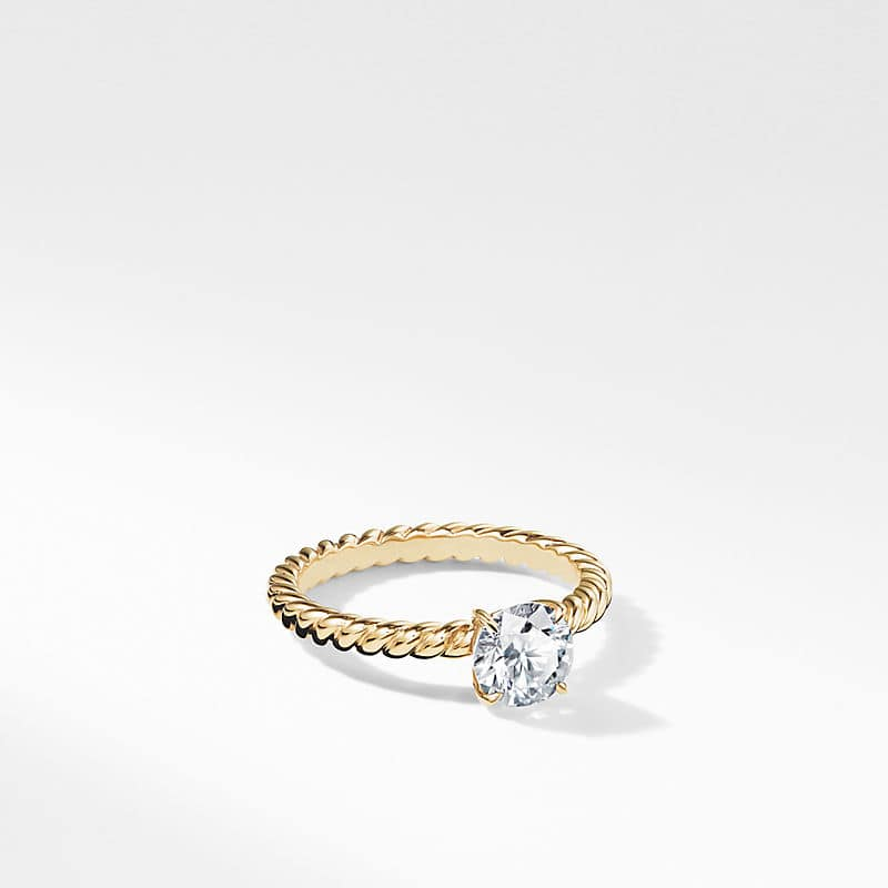 DY Unity Cable Engagement Ring in 18K Yellow