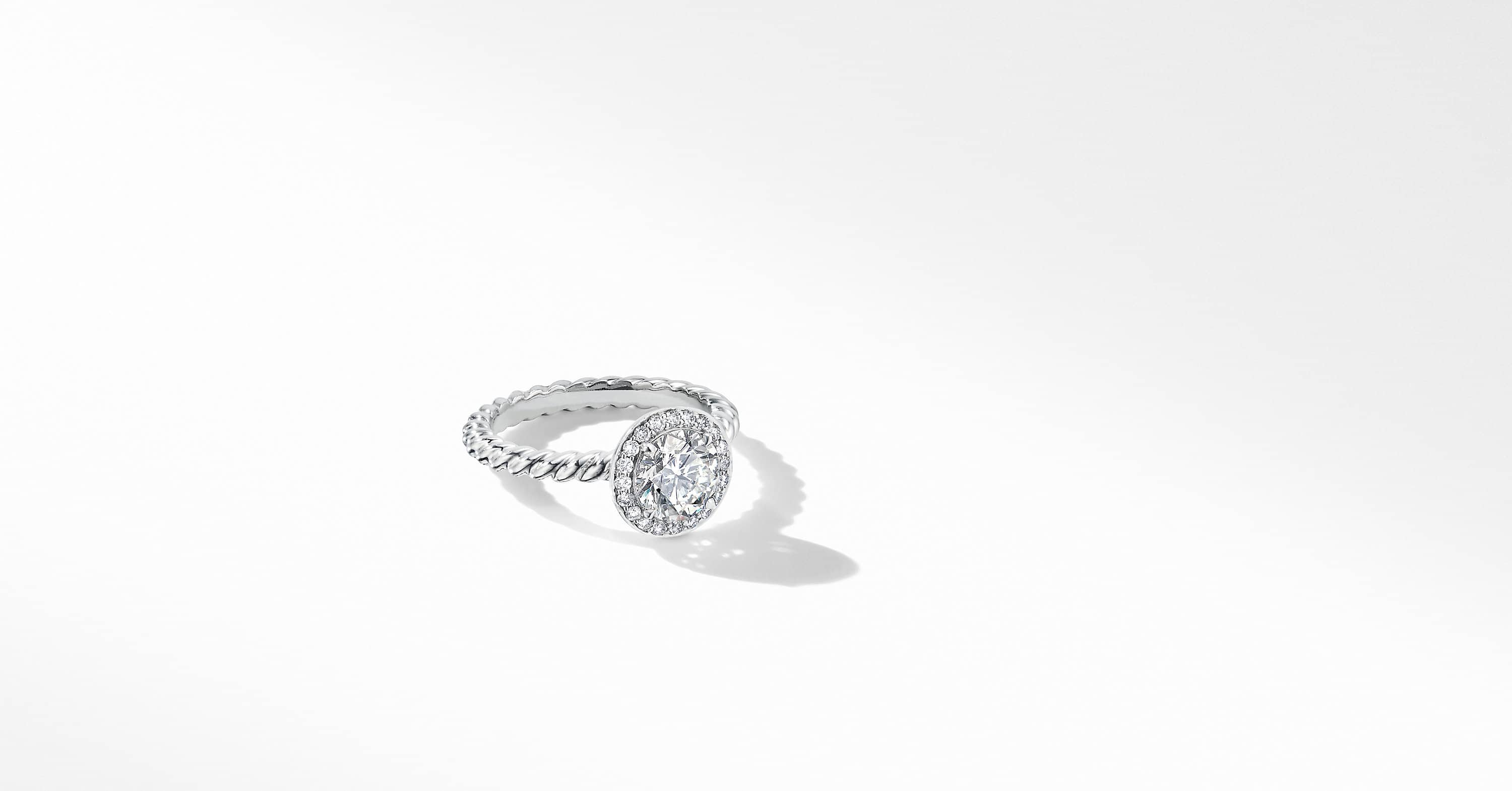 DY Capri Engagement Ring in Platinum, Round